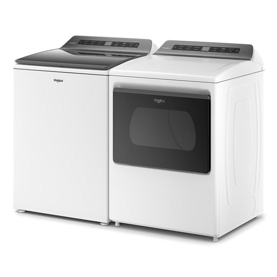 Model: WED5100HW | Whirlpool 7.4 cu. ft. Top Load Electric Dryer with Intuitive Controls