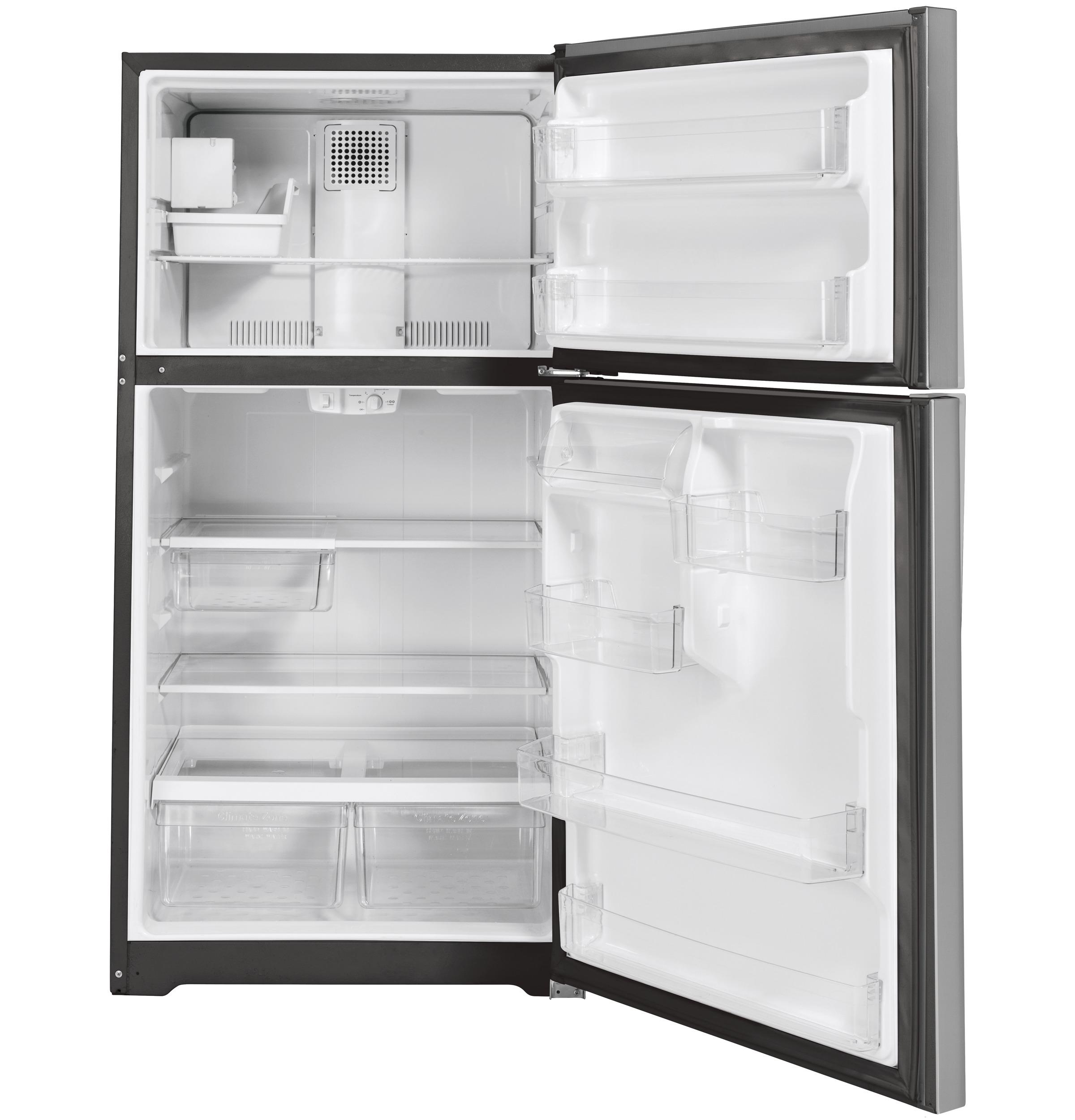 Model: GIE19JSNRSS | GE GE® ENERGY STAR® 19.2 Cu. Ft. Top-Freezer Refrigerator