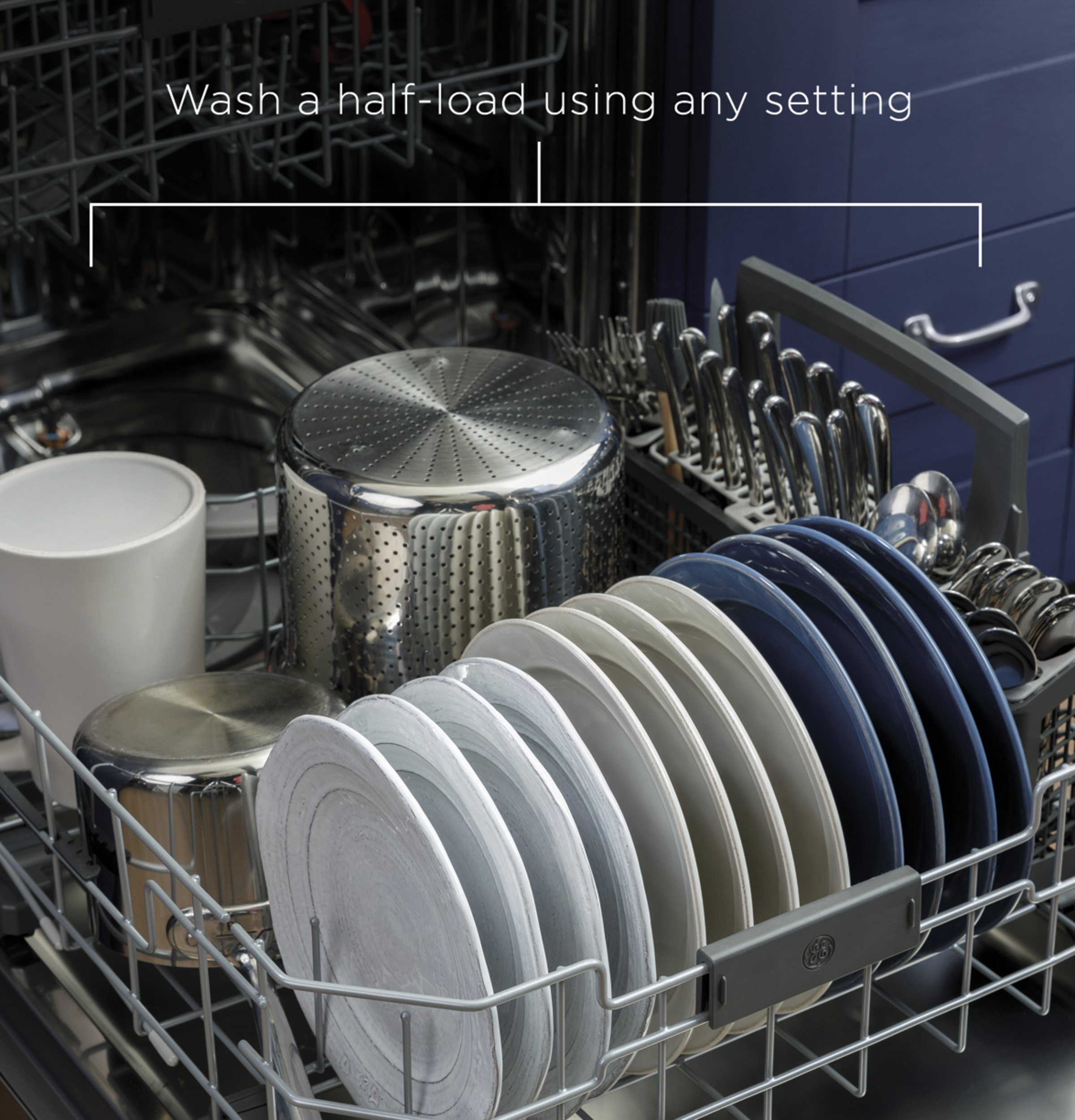 Model: GDT665SSNSS | GE GE® Stainless Steel Interior Dishwasher with Hidden Controls