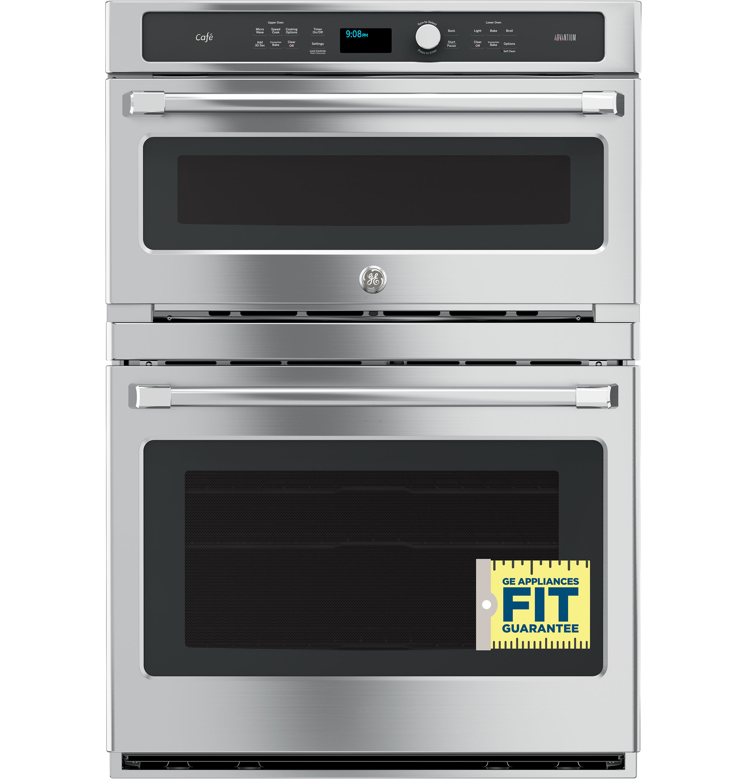 Model: CT9800SHSS   GE Cafe GE Café™ Series 30 in. Combination Double Wall Oven with Convection and Advantium® Technology