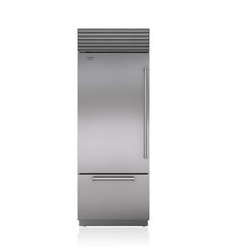 "Model: BI-30U/S/PH-LH   Sub-Zero 30"" Classic Over-and-Under Refrigerator/Freezer"