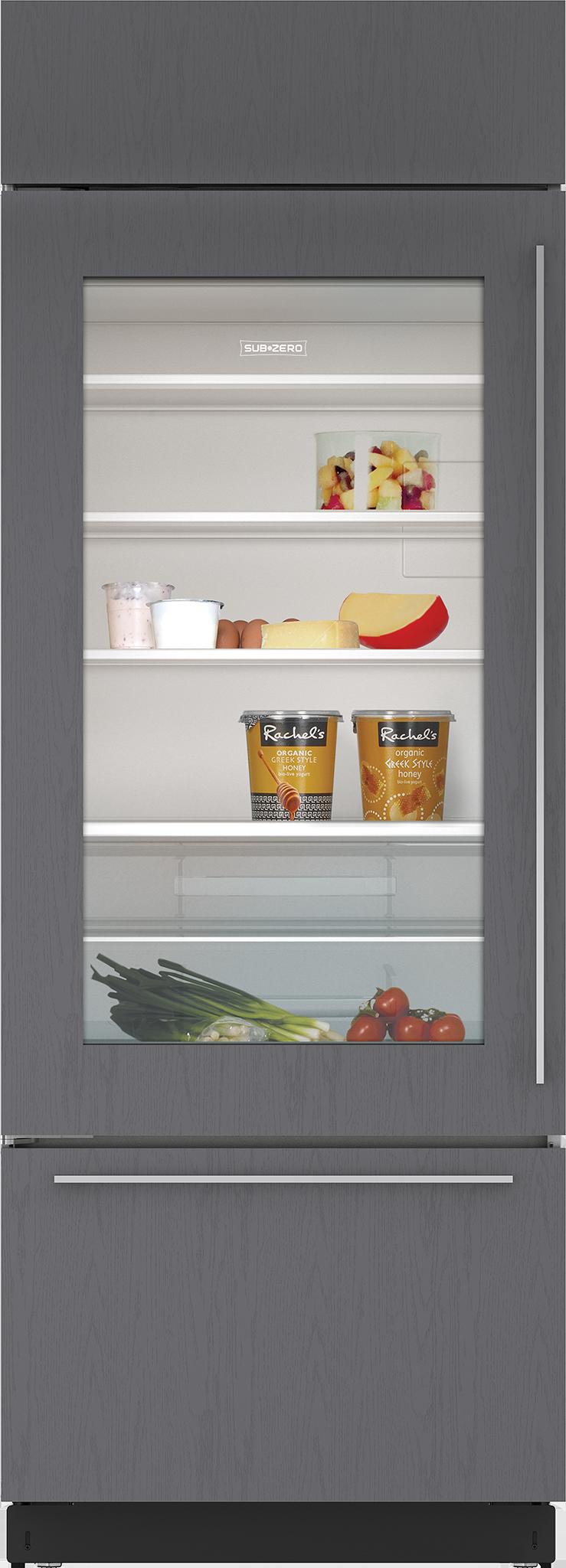 "Sub Zero Glass Door Refrigerator sub-zero - bi-30ug/o-rh - 30"" classic over-and-under"