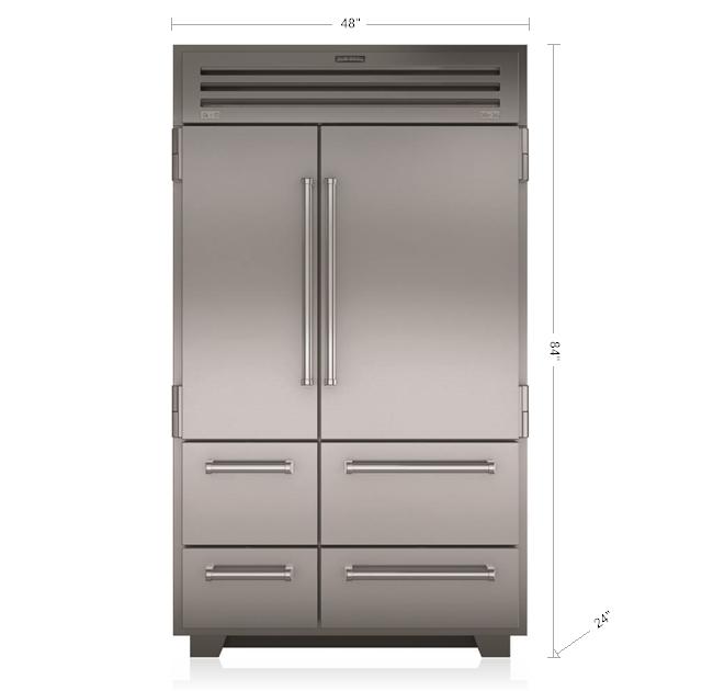 "Model: PRO4850 | Sub-Zero 48"" PRO Refrigerator/Freezer"