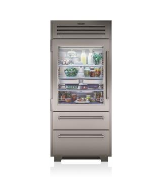 "Model: PRO3650G/LH | Sub-Zero 36"" PRO Refrigerator/Freezer with Glass Door"