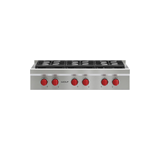 "Model: SRT366 | Wolf 36"" Sealed Burner Rangetop - 6 Burners"