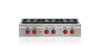 "Model: SRT366-LP | Wolf 36"" Sealed Burner Rangetop - 6 Burners"