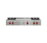 "Model: SRT484F-LP | Wolf 48"" Sealed Burner Rangetop - 4 Burners and French Top"
