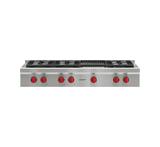 "Model: SRT486C | Wolf 48"" Sealed Burner Rangetop - 6 Burners and Infrared Charbroiler"
