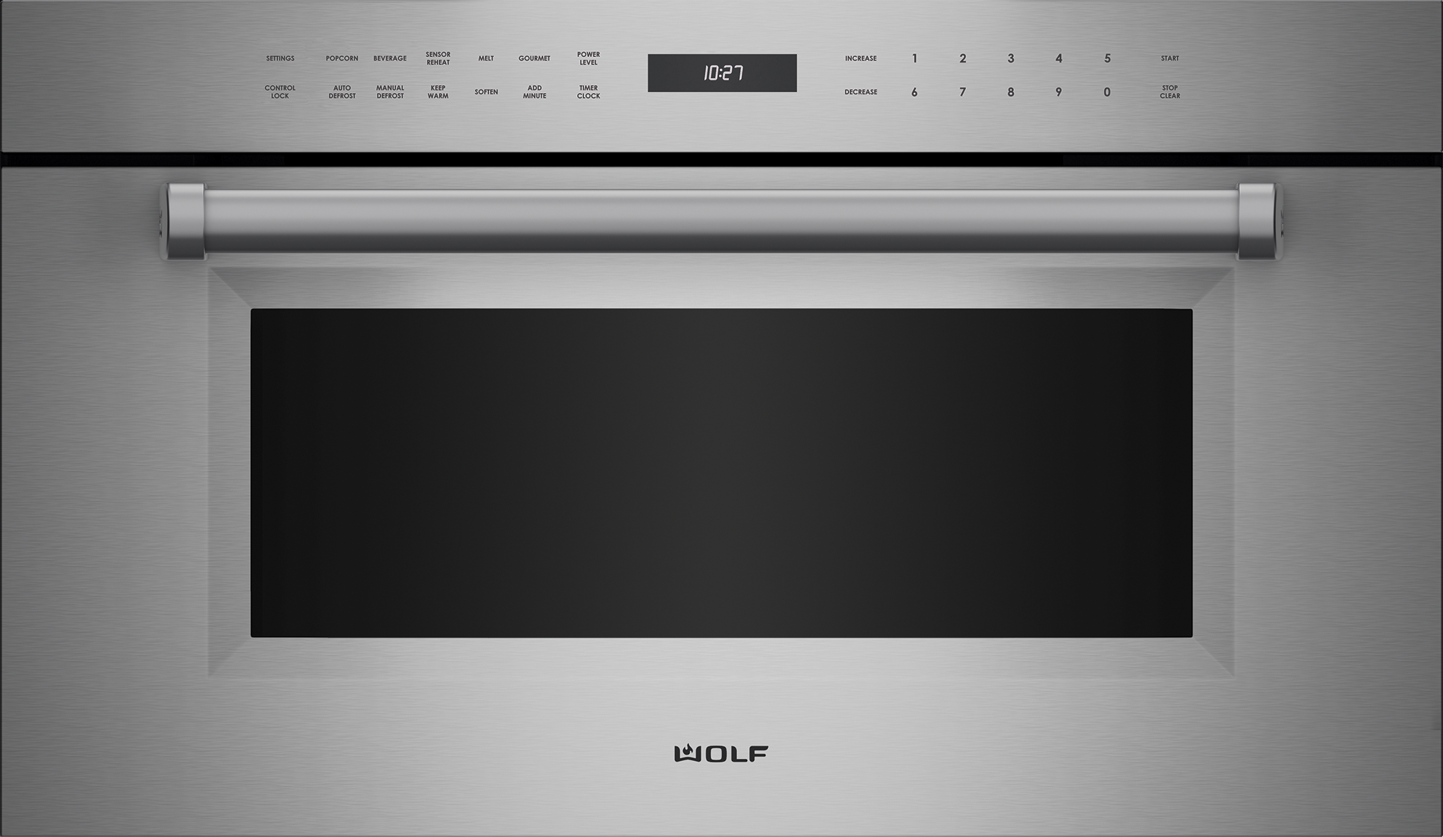 "Model: MDD30PM/S/PH | Wolf 30"" M Series Professional Drop-Down Door Microwave Oven"