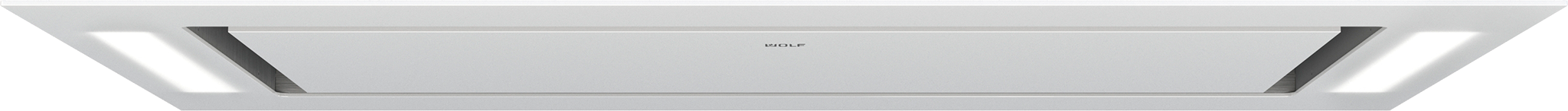 "Model: VC36W | Wolf 36"" Ceiling-Mounted Hood - White Glass"