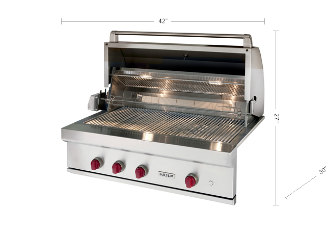 "Model: OG42-LP | Wolf 42"" Outdoor Gas Grill"