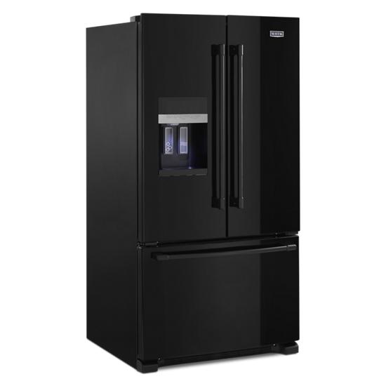 Model: MFI2570FEB | Maytag 36- Inch Wide French Door Refrigerator with PowerCold® Feature - 25 Cu. Ft.