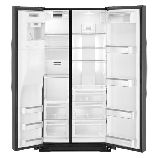 Model: WRS973CIHV | Whirlpool 36-inch Wide Side-by-Side Counter Depth Refrigerator - 23 cu. ft.