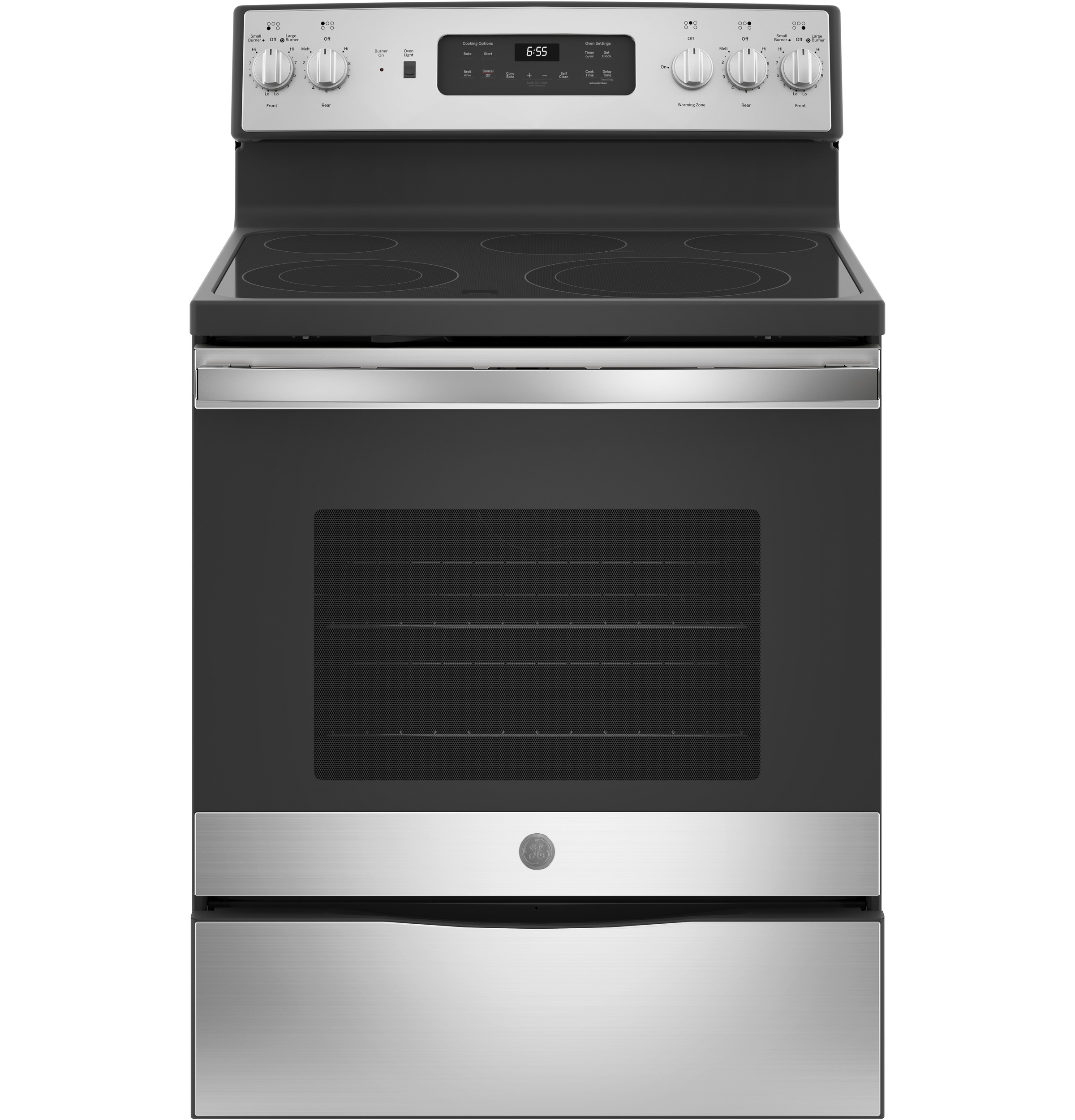 "GE GE® 30"" Free-Standing Electric Convection Fingerprint Resistant Range"
