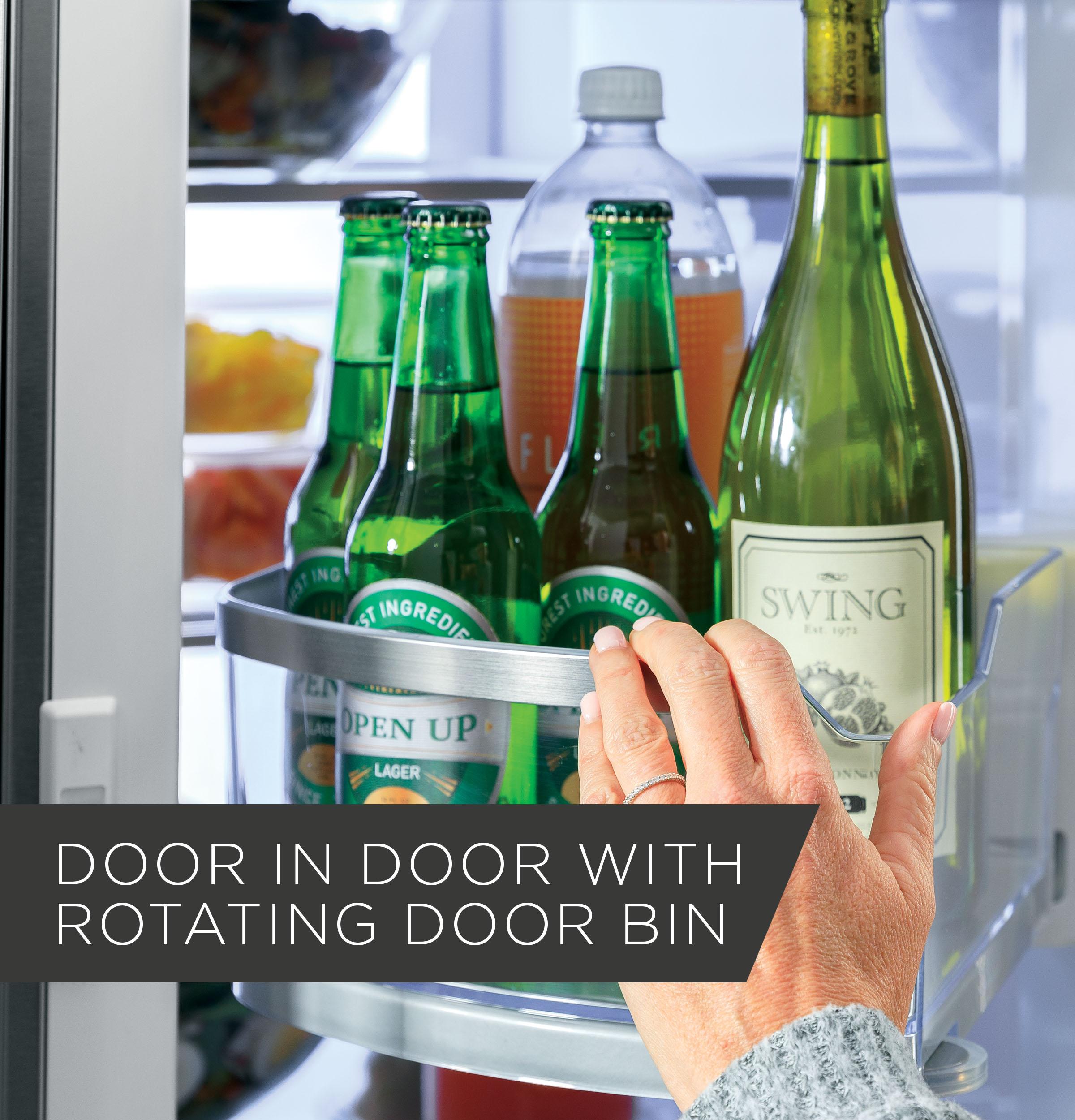 Model: GFD28GMLES | GE GE® 27.7 Cu. Ft. French-Door Refrigerator with Door In Door