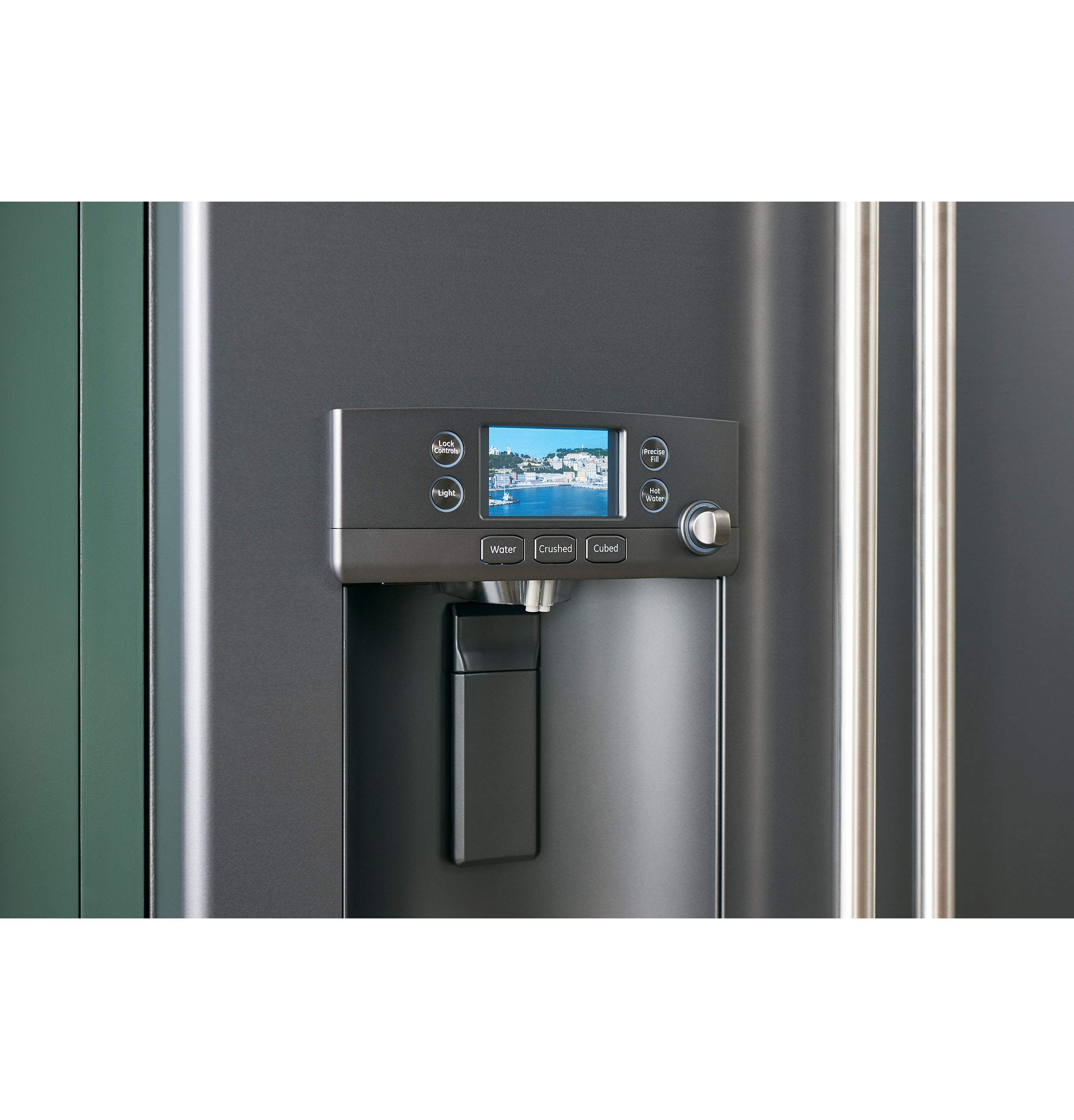 Model: CFE28TP4MW2   Cafe Café™ ENERGY STAR® 27.8 Cu. Ft. Smart French-Door Refrigerator with Hot Water Dispenser