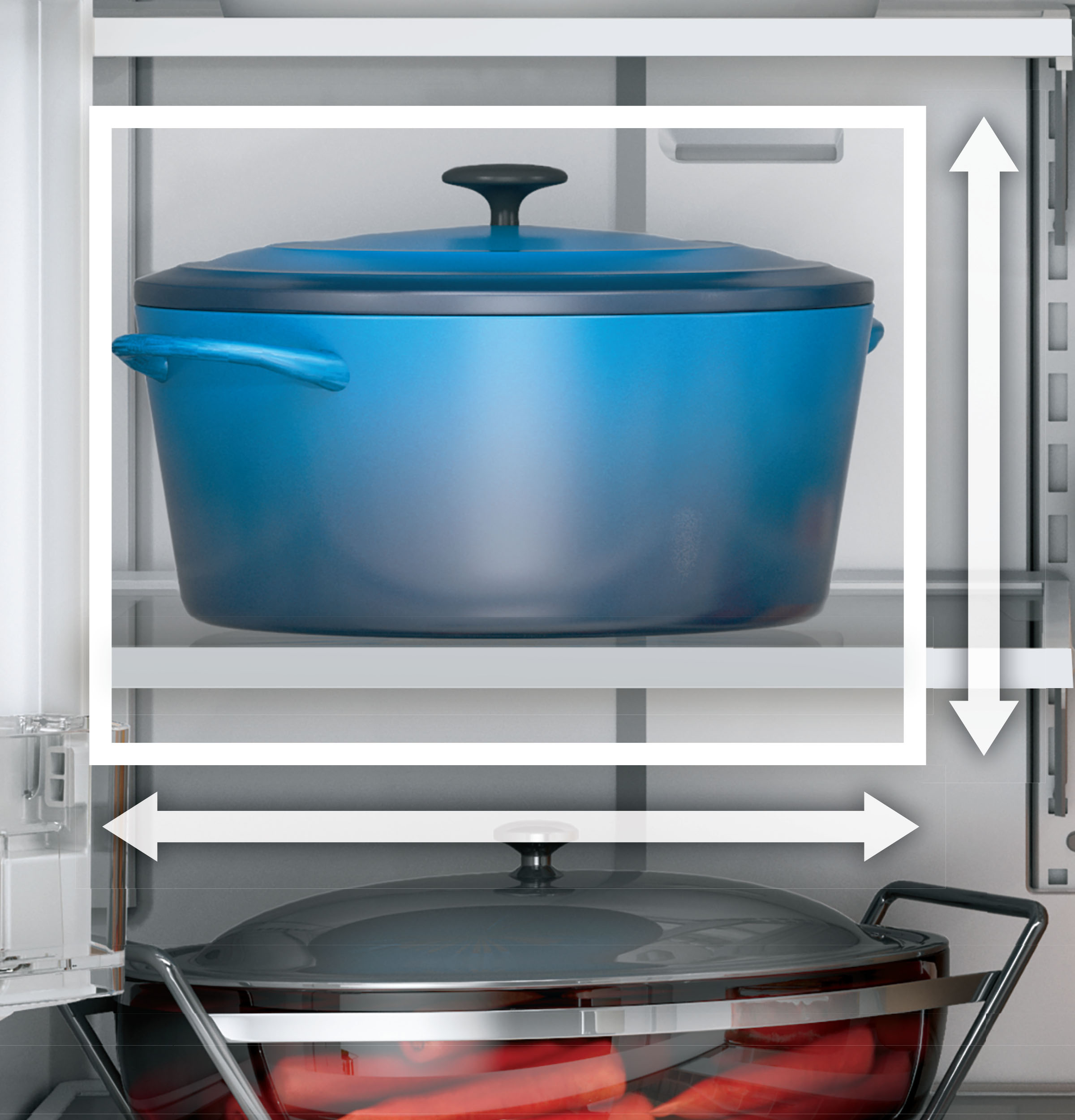Model: GYE18JSLSS   GE GE® ENERGY STAR® 17.5 Cu. Ft. Counter-Depth French-Door Refrigerator