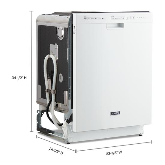 Model: MDB4949SHW | Maytag Stainless Steel Tub Dishwasher with Most Powerful Motor on the Market