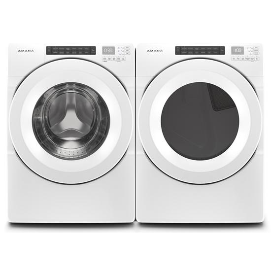 Model: NED5800HW | Amana 7.4 cu. ft. Front-Load Dryer with Sensor Drying
