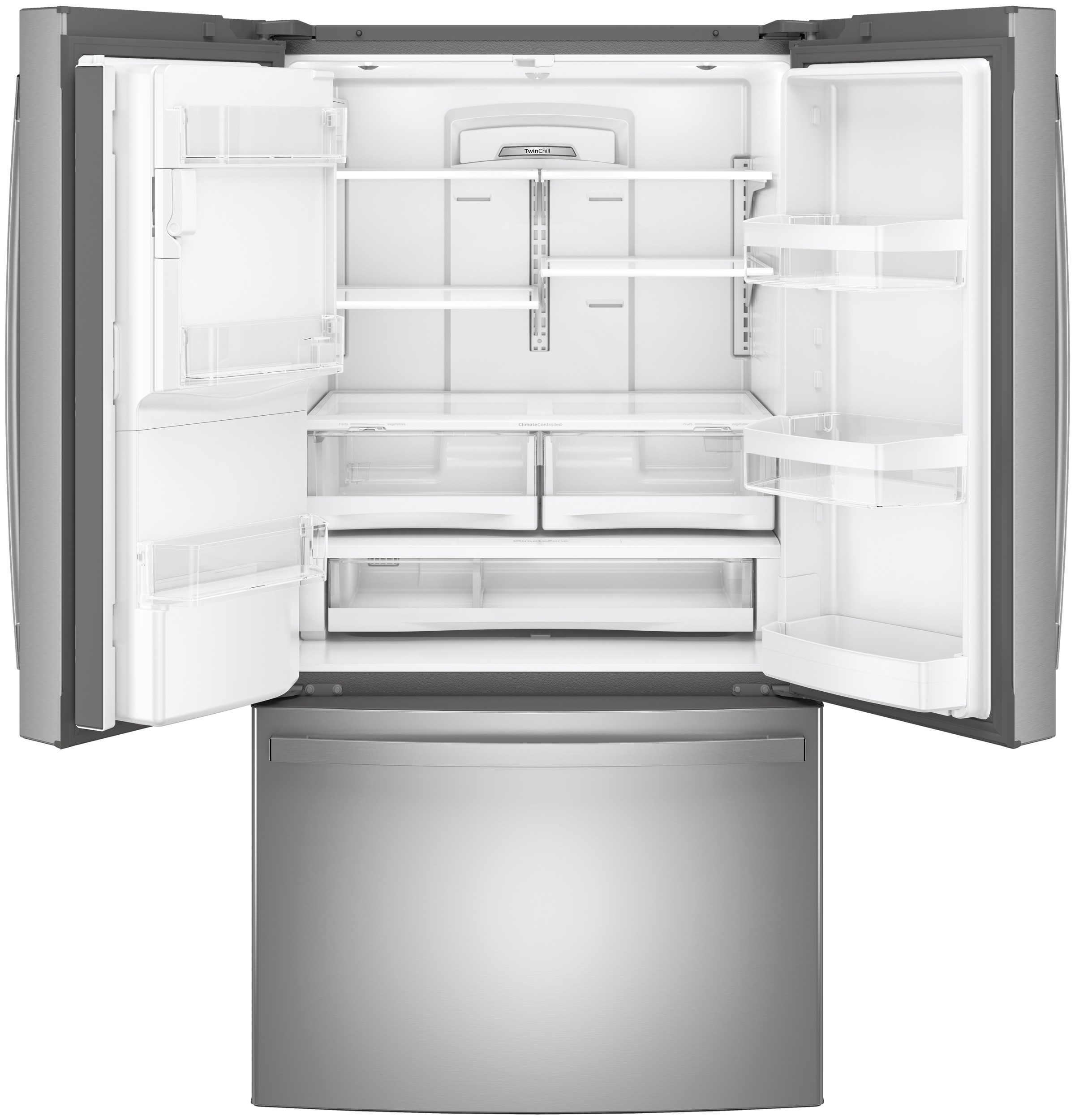 Model: GFE28GYNFS | GE GE® ENERGY STAR® 27.7 Cu. Ft. Fingerprint Resistant French-Door Refrigerator