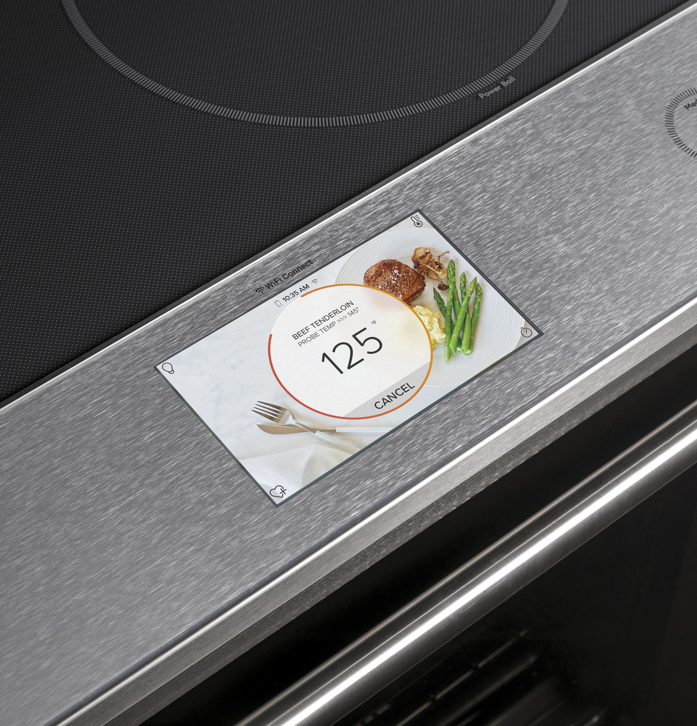 "Model: CHS900M2NS5 | Cafe Café™ 30"" Smart Slide-In, Front-Control, Induction and Convection Range in Platinum Glass"
