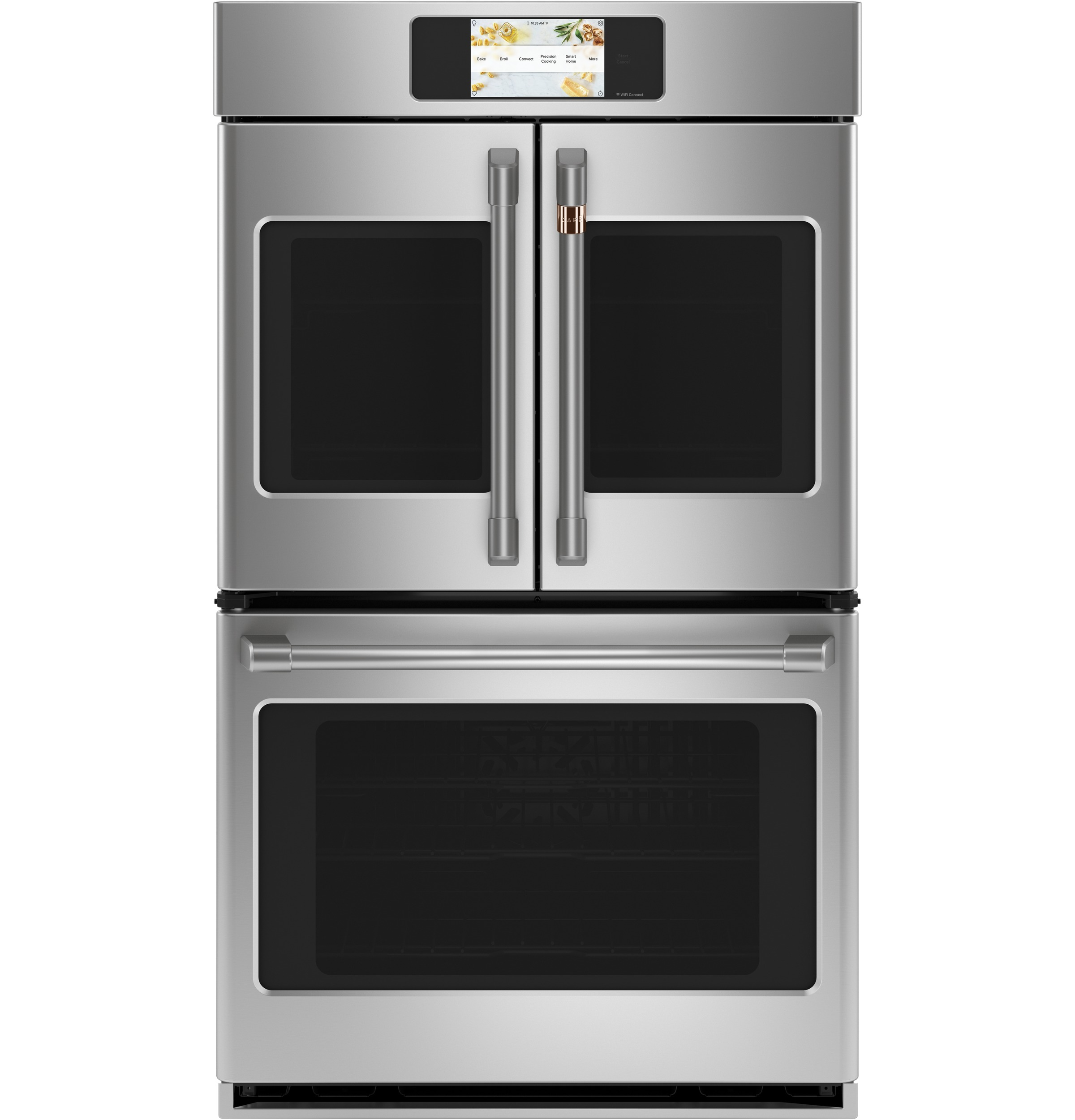"Cafe Café™ Professional Series 30"" Smart Built-In Convection French-Door Double Wall Oven"