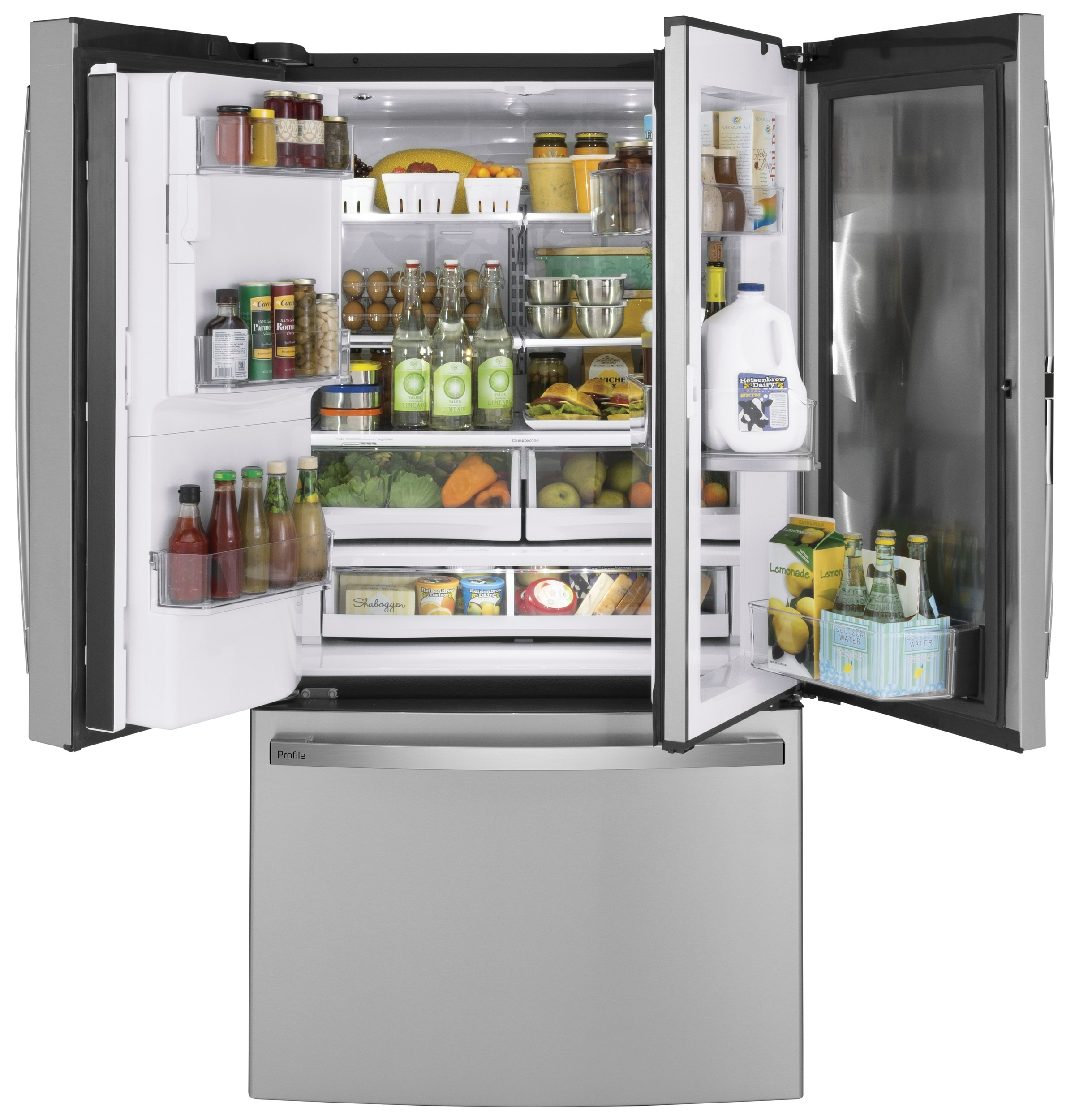 Model: PFD28KYNFS | GE Profile GE Profile™ Series 27.7 Cu. Ft. French-Door Refrigerator with Door In Door and Hands-Free AutoFill