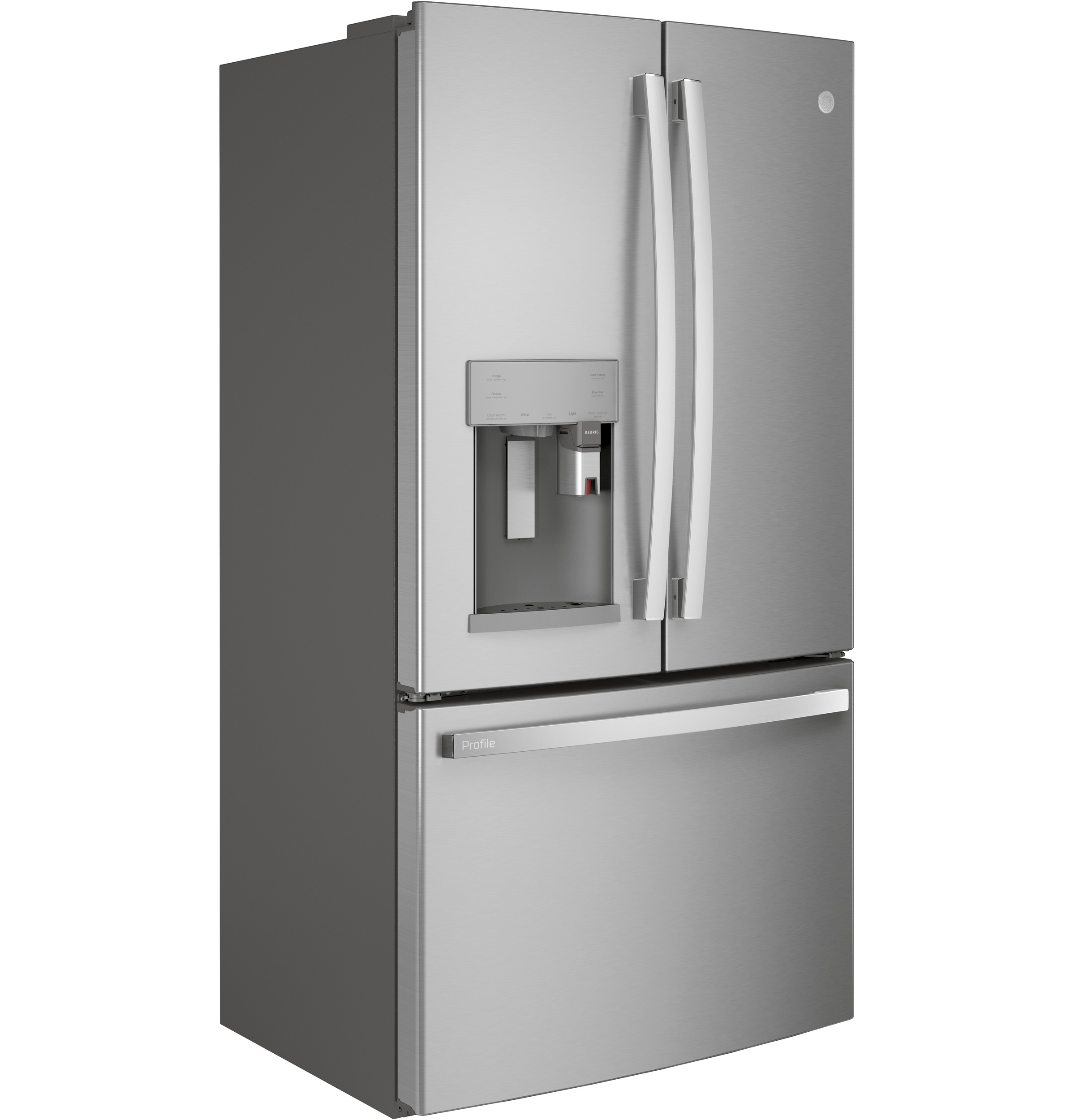 Model: PFE28PYNFS | GE Profile GE Profile™ Series ENERGY STAR® 27.7 Cu. Ft. Smart French-Door Refrigerator with Keurig® K-Cup® Brewing System