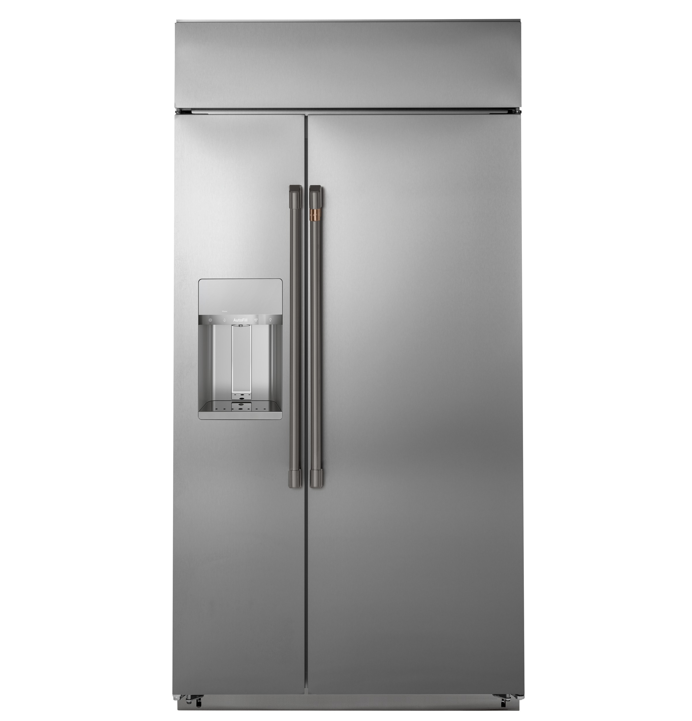 "Model: CSB48YP2NS1 | Cafe Café™ 48"" Smart Built-In Side-by-Side Refrigerator with Dispenser"