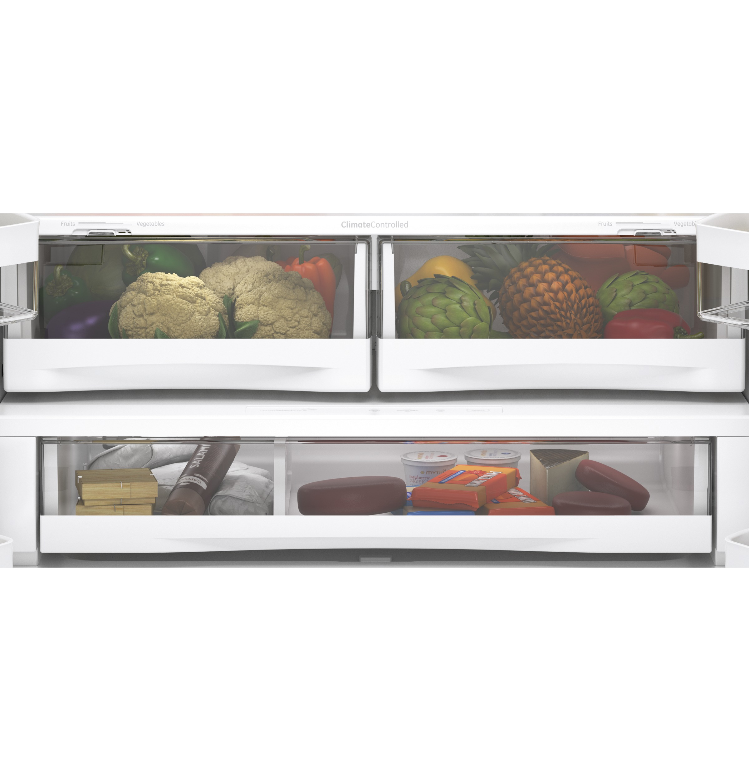 Model: GNE29GYNFS   GE GE® ENERGY STAR® 28.7 Cu. Ft. Fingerprint Resistant French-Door Refrigerator