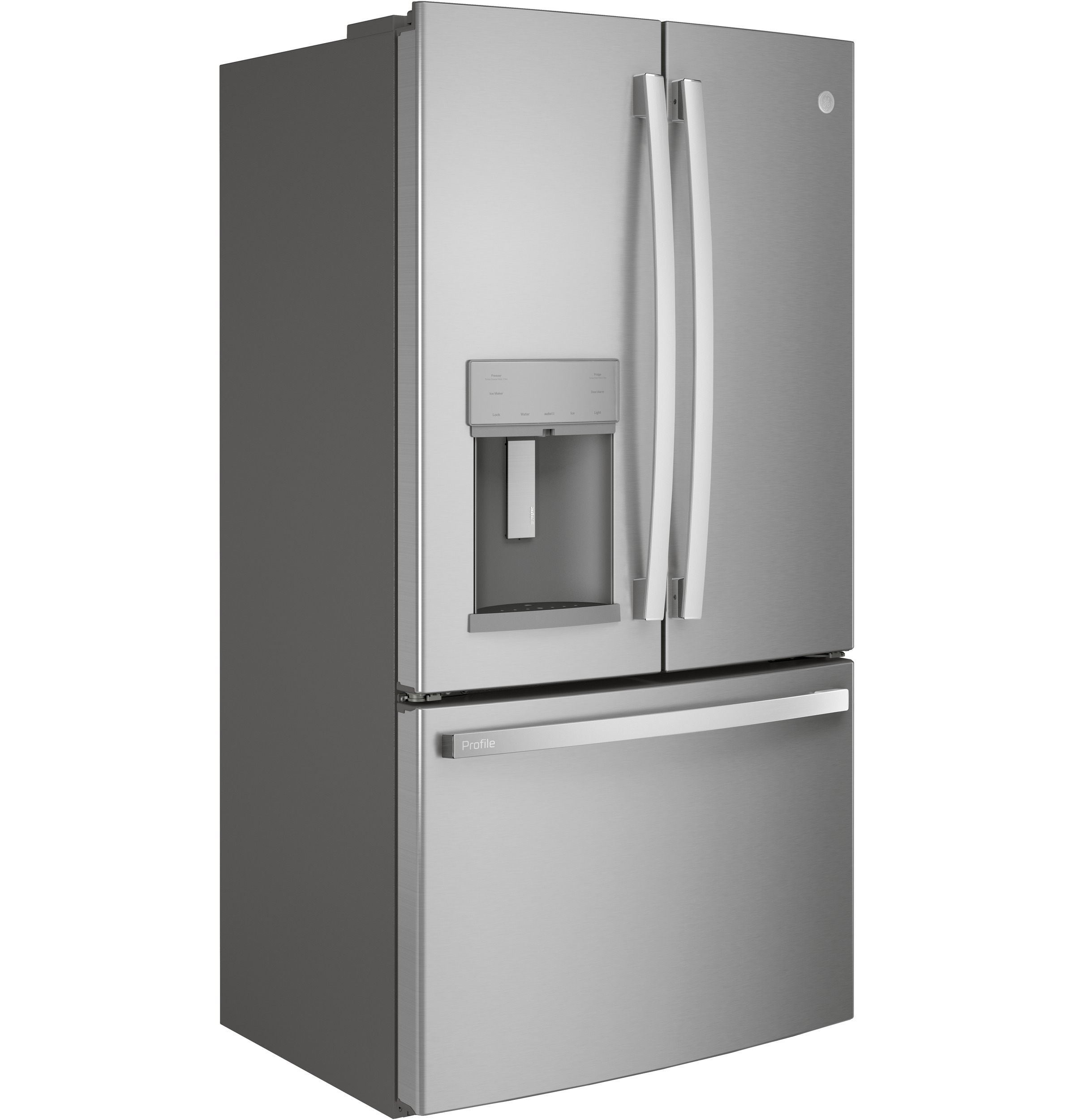 Model: PFE28KYNFS | GE Profile GE Profile™ Series ENERGY STAR® 27.7 Cu. Ft. French-Door Refrigerator with Hands-Free AutoFill