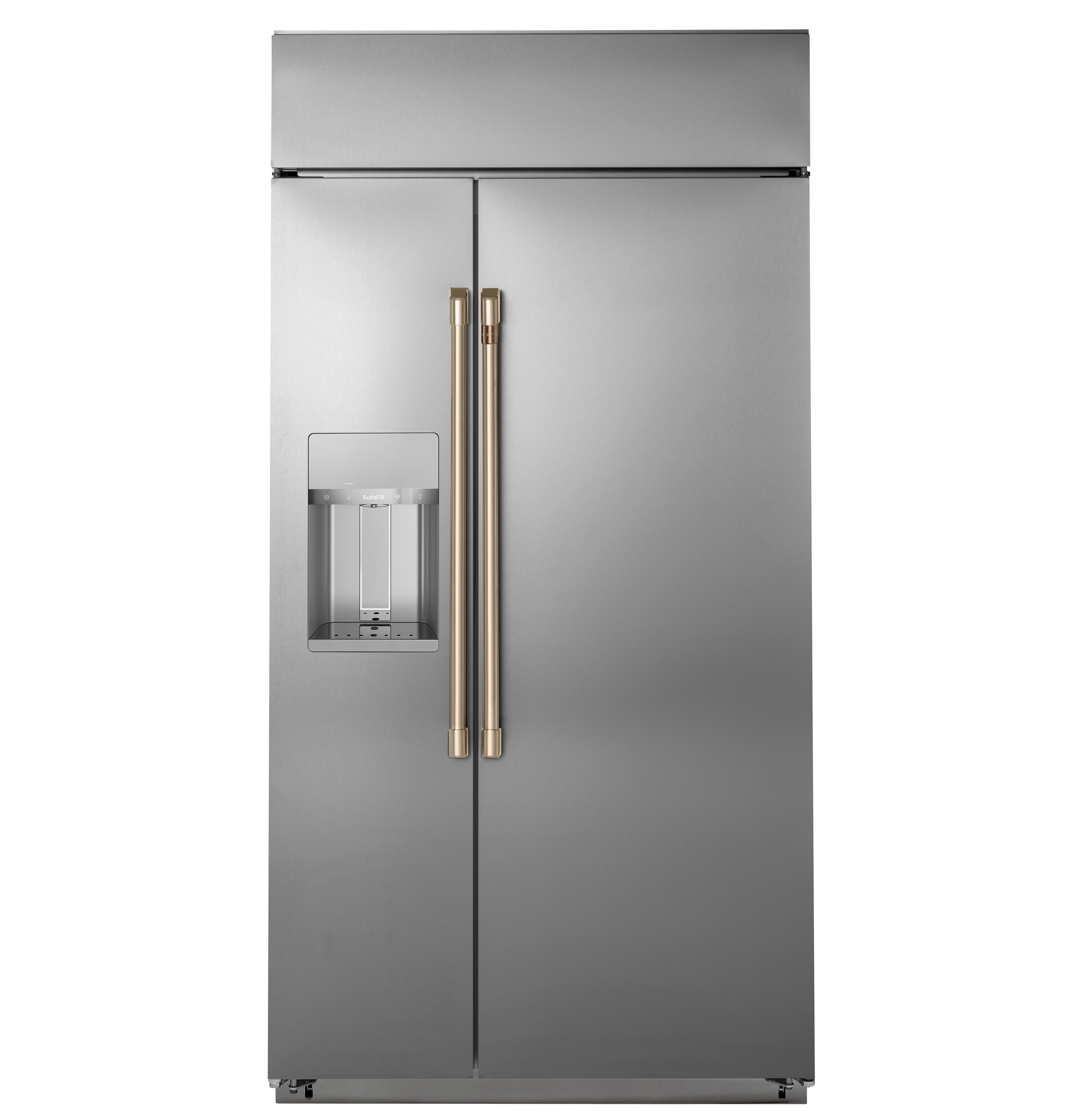 "Model: CSB42YP2NS1 | Cafe Café™ 42"" Smart Built-In Side-by-Side Refrigerator with Dispenser"