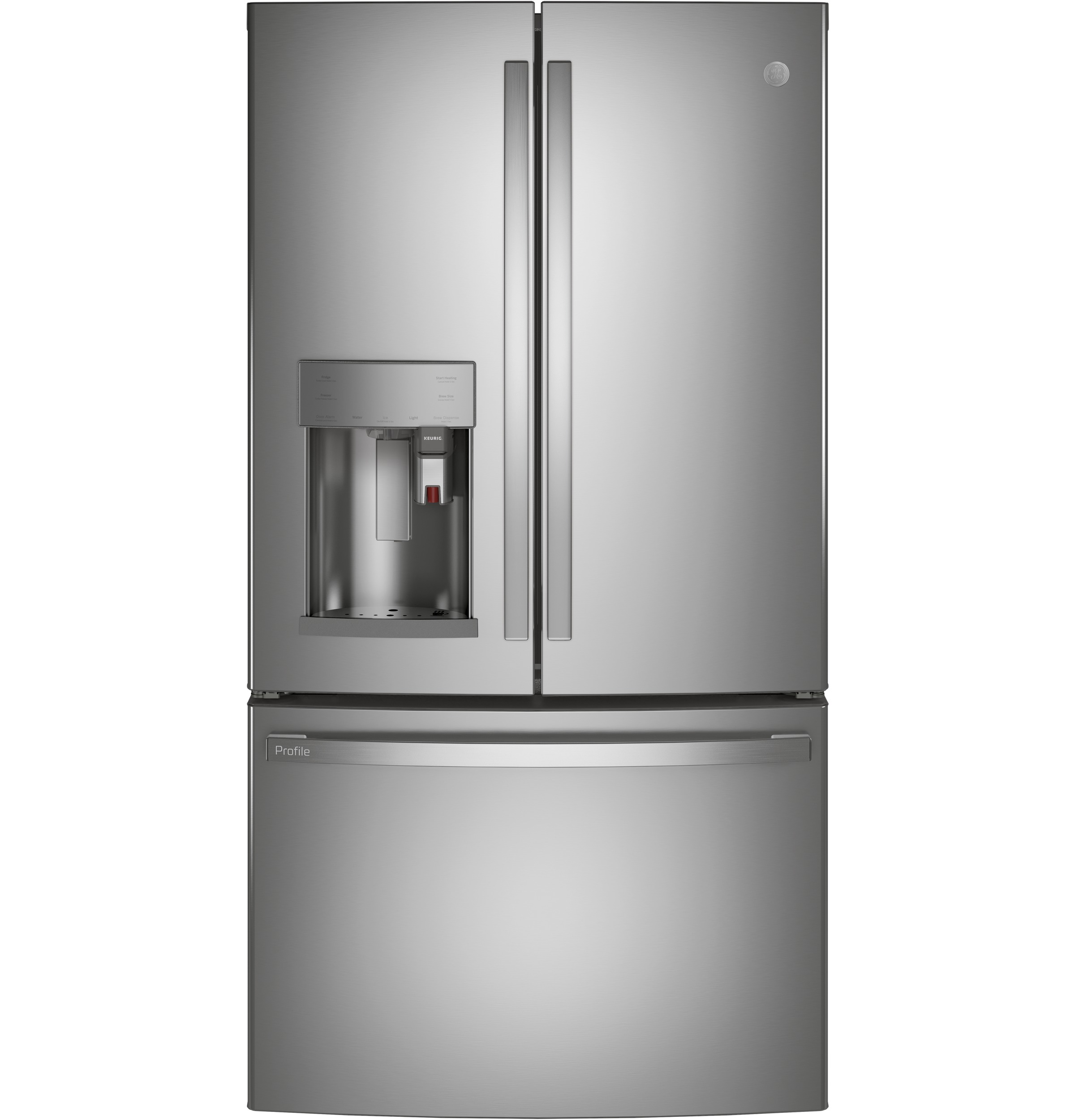 GE Profile GE Profile™ Series ENERGY STAR® 22.1 Cu. Ft. Smart Counter-Depth French-Door Refrigerator with Keurig® K-Cup® Brewing System