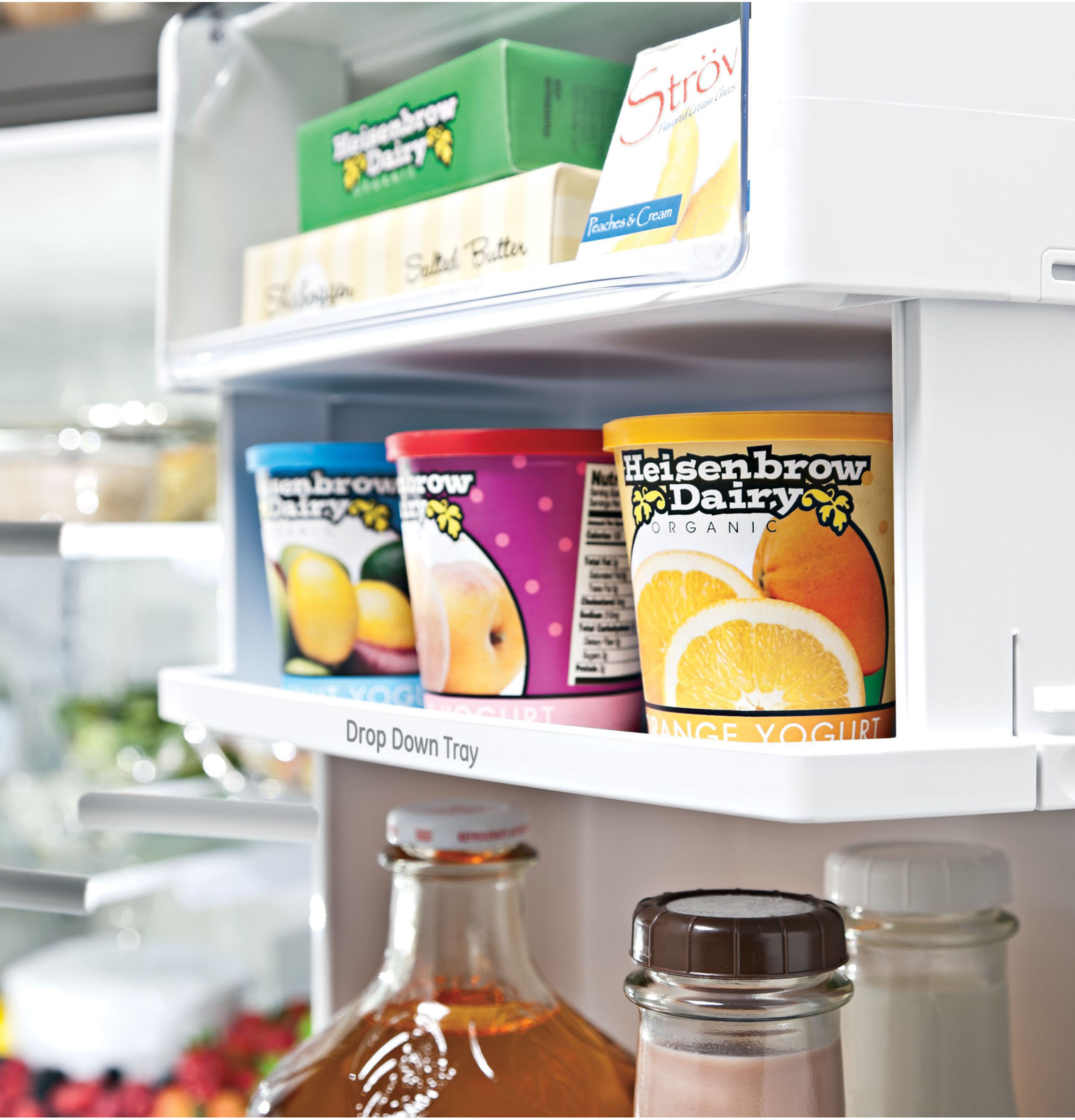 Model: PYE22KYNFS | GE Profile GE Profile™ Series ENERGY STAR® 22.1 Cu. Ft. Counter-Depth French-Door Refrigerator with Hands-Free AutoFill