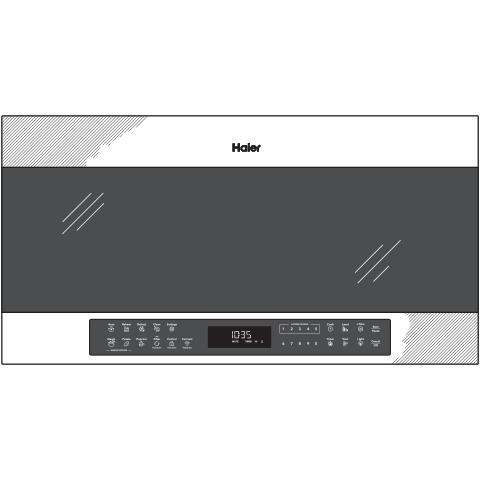 "Model: QVM7167BNTS | Haier 30"" 1.6 Cu. Ft. Smart Over-the-Range Microwave Oven"