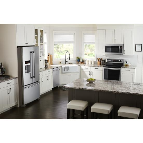 Model: MFI2570FEZ | Maytag 36- Inch Wide French Door Refrigerator with PowerCold® Feature - 25 Cu. Ft.