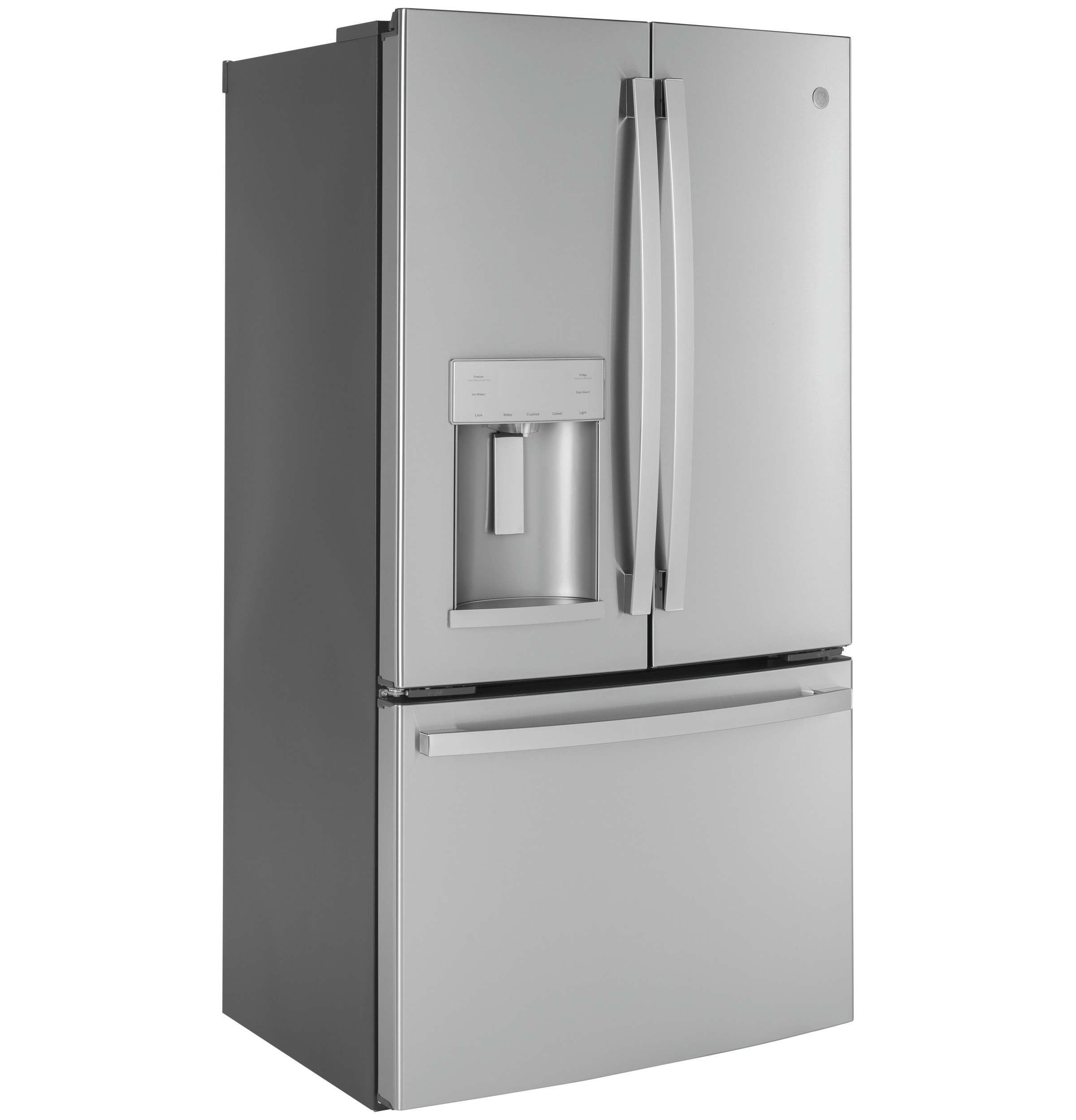 Model: GYE22GYNFS | GE GE® ENERGY STAR® 22.1 Cu. Ft. Counter-Depth Fingerprint Resistant French-Door Refrigerator