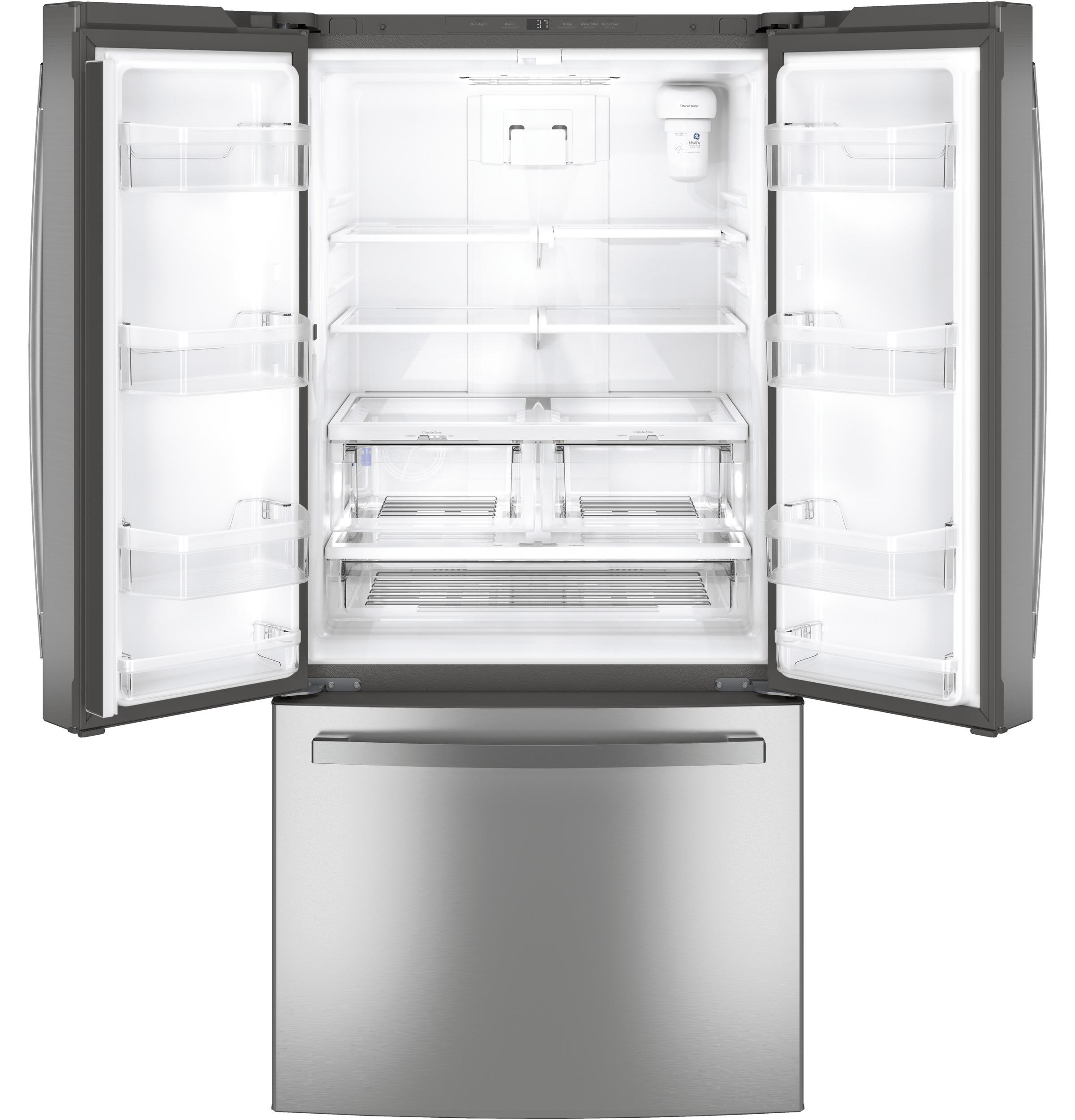 Model: GNE25JSKSS | GE GE® ENERGY STAR® 24.7 Cu. Ft. French-Door Refrigerator