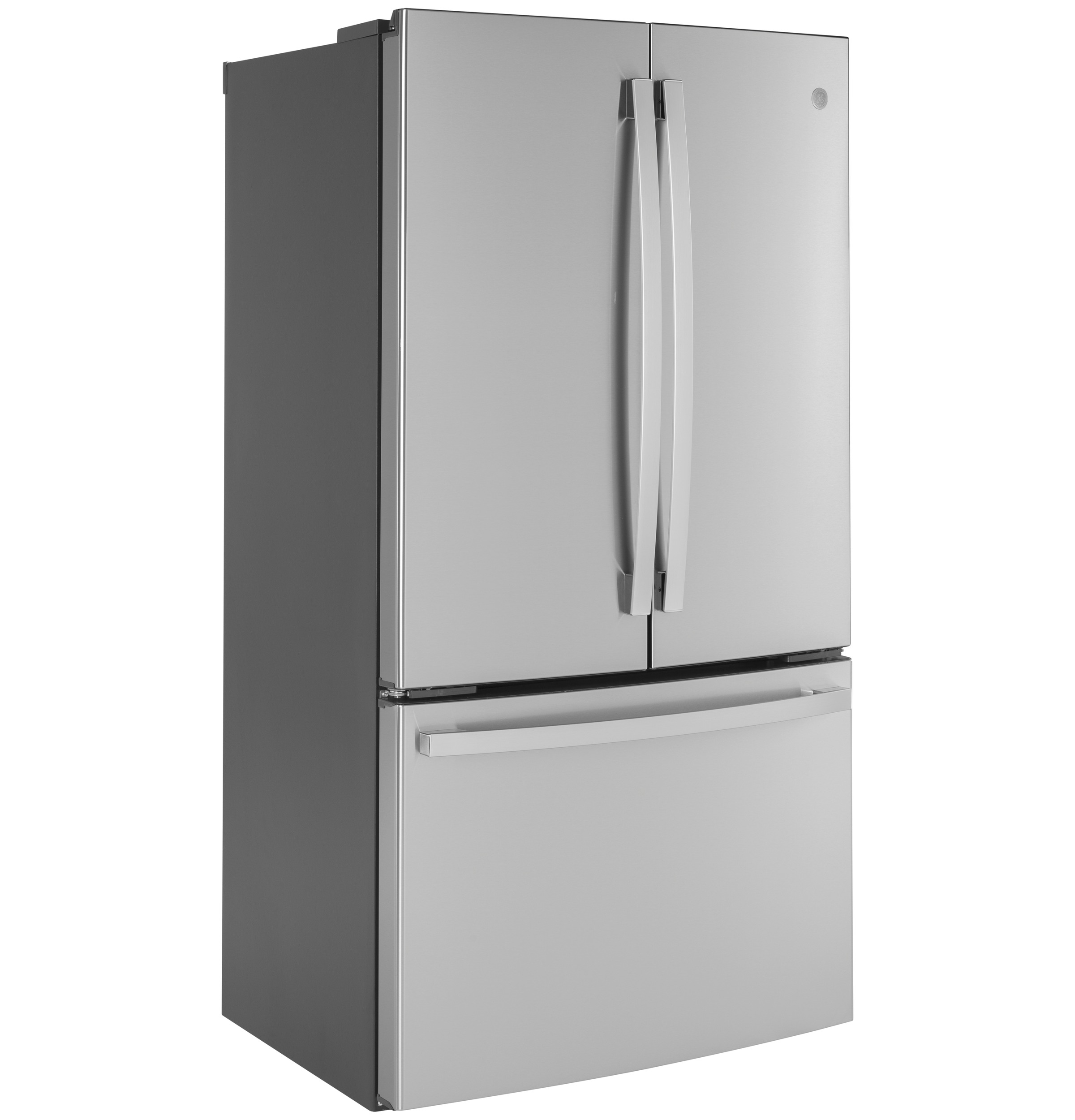 Model: GWE23GYNFS | GE GE® ENERGY STAR® 23.1 Cu. Ft. Counter-Depth French-Door Refrigerator