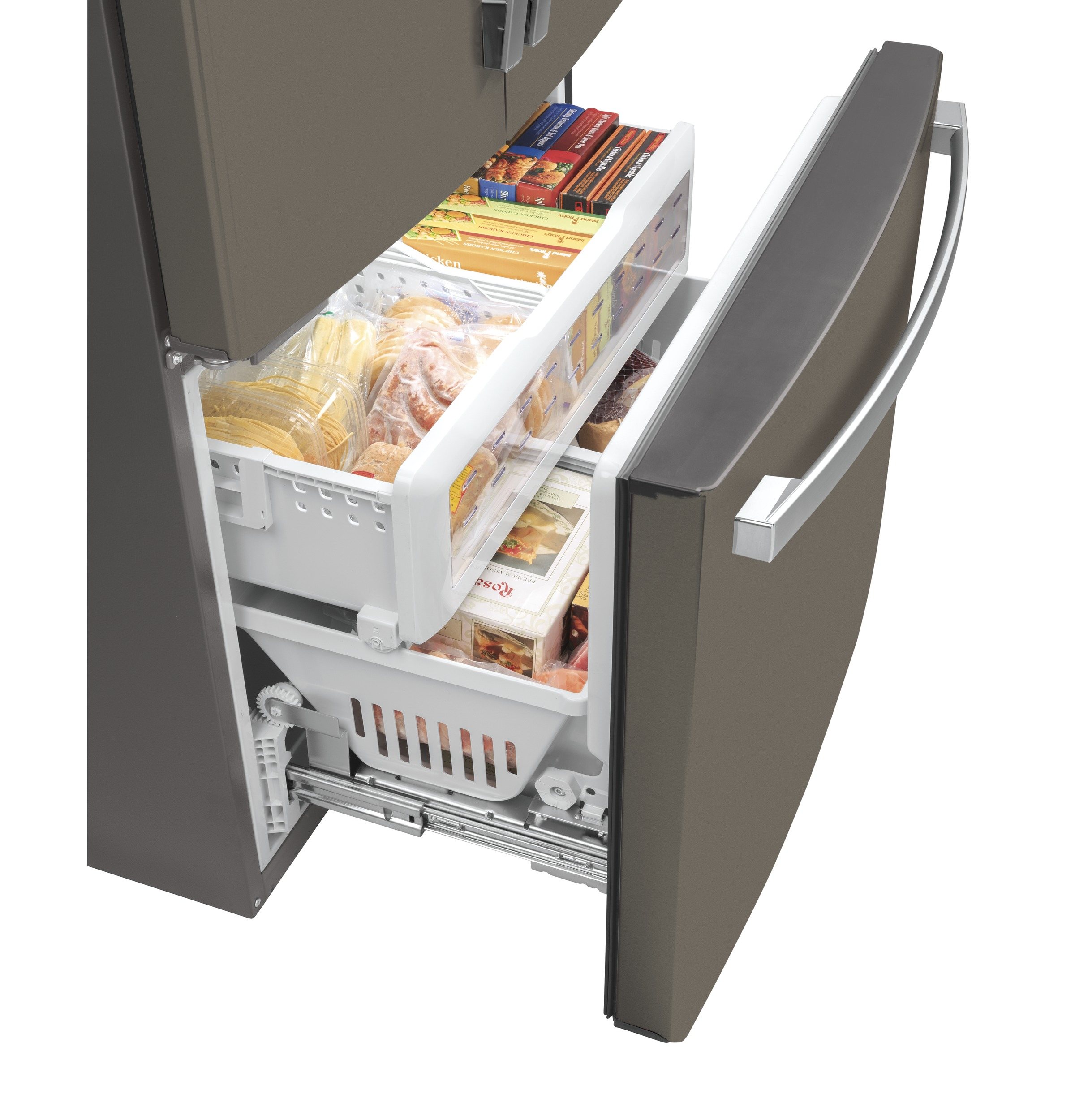 Model: GWE23GMNES | GE GE® ENERGY STAR® 23.1 Cu. Ft. Counter-Depth French-Door Refrigerator