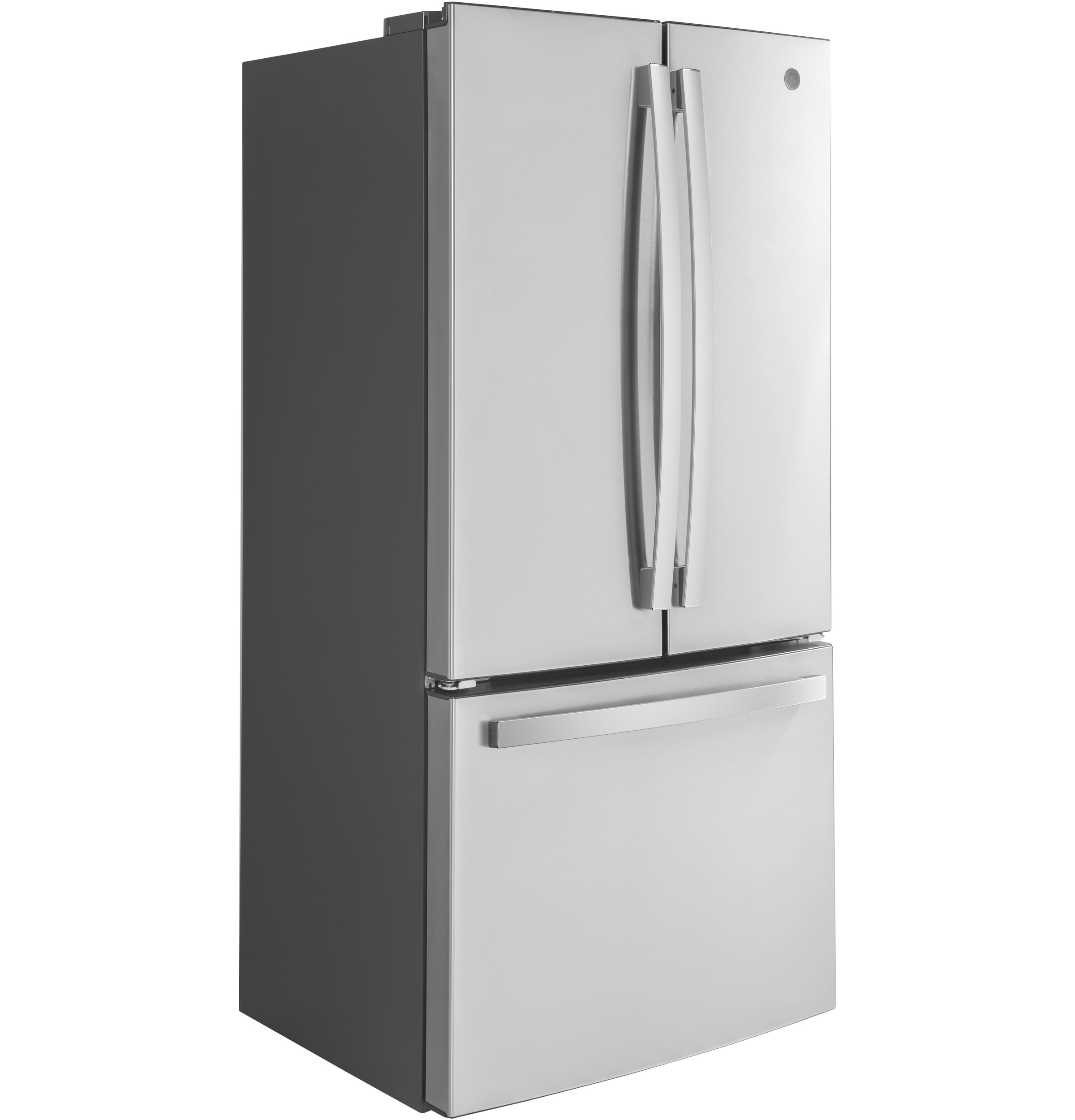 Model: GWE19JSLSS | GE GE® ENERGY STAR® 18.6 Cu. Ft. Counter-Depth French-Door Refrigerator
