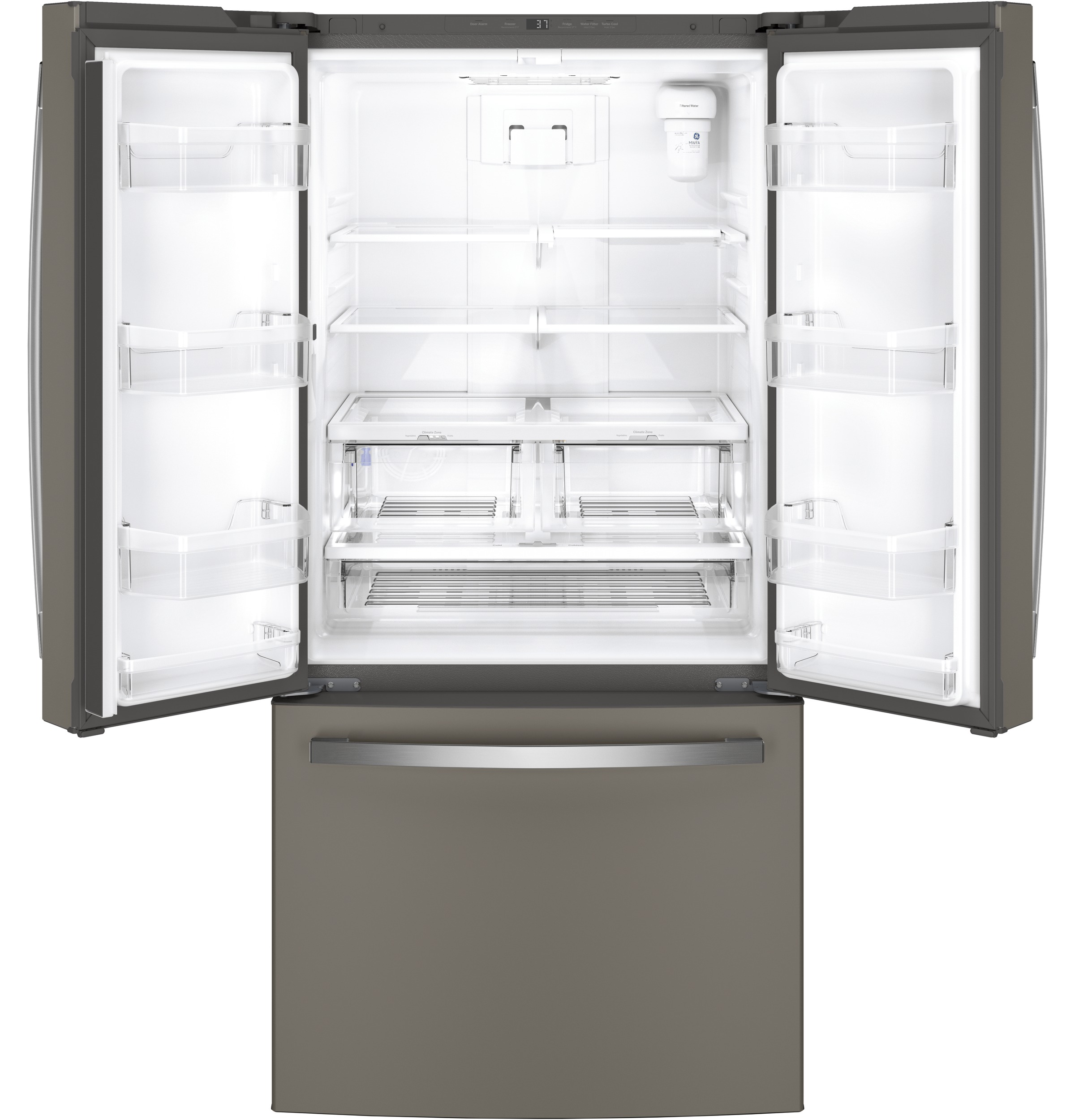 Model: GWE19JMLES | GE GE® ENERGY STAR® 18.6 Cu. Ft. Counter-Depth French-Door Refrigerator