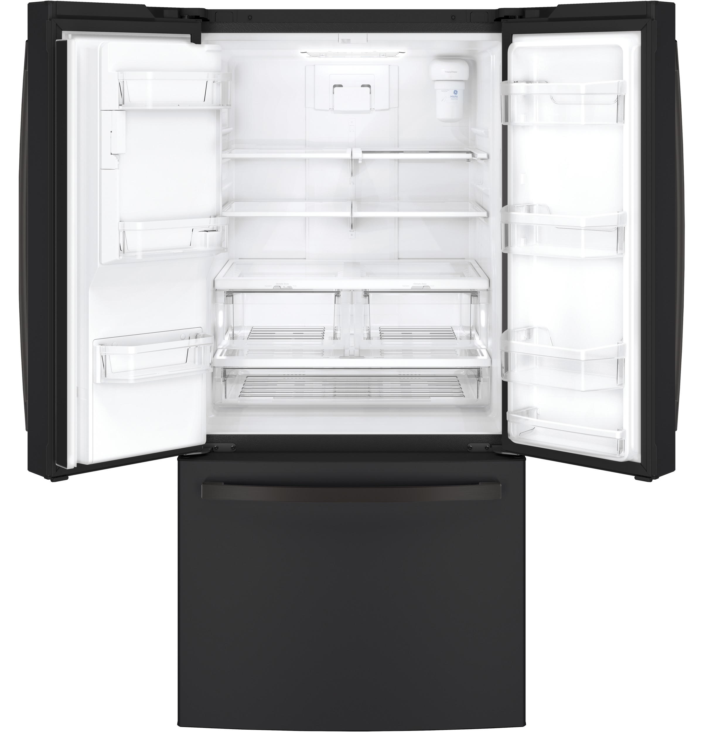 Model: GYE18JEMDS | GE GE® ENERGY STAR® 17.5 Cu. Ft. Counter-Depth French-Door Refrigerator