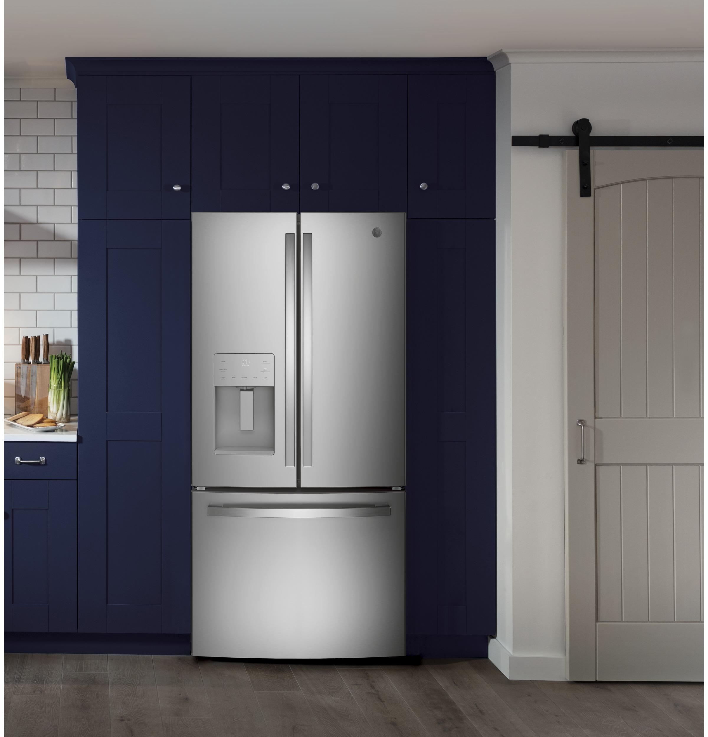 Model: GFE24JSKSS | GE GE® ENERGY STAR® 23.7 Cu. Ft. French-Door Refrigerator