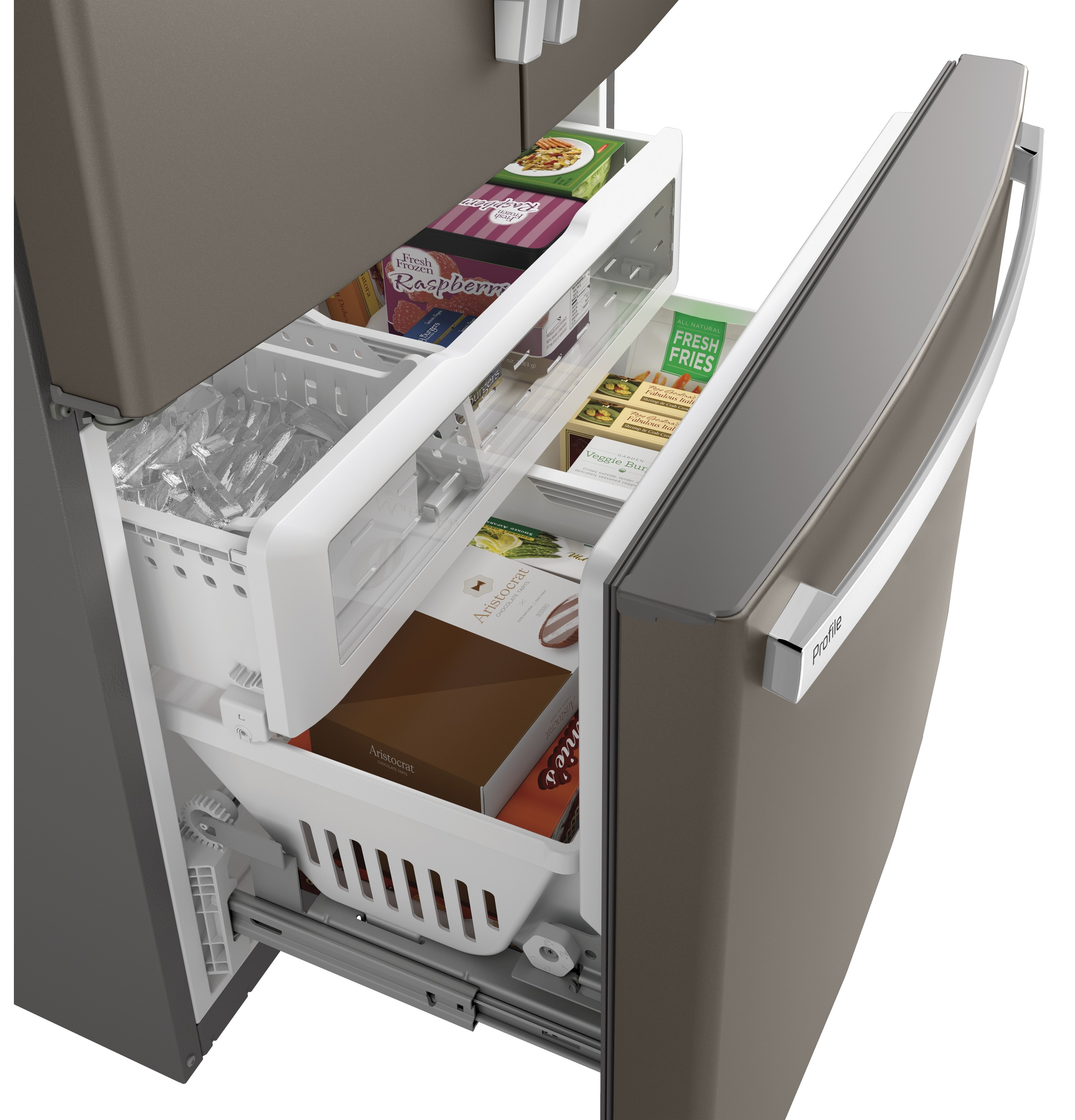 Model: PWE23KMKES | Profile GE Profile™ Series ENERGY STAR® 23.1 Cu. Ft. Counter-Depth French-Door Refrigerator