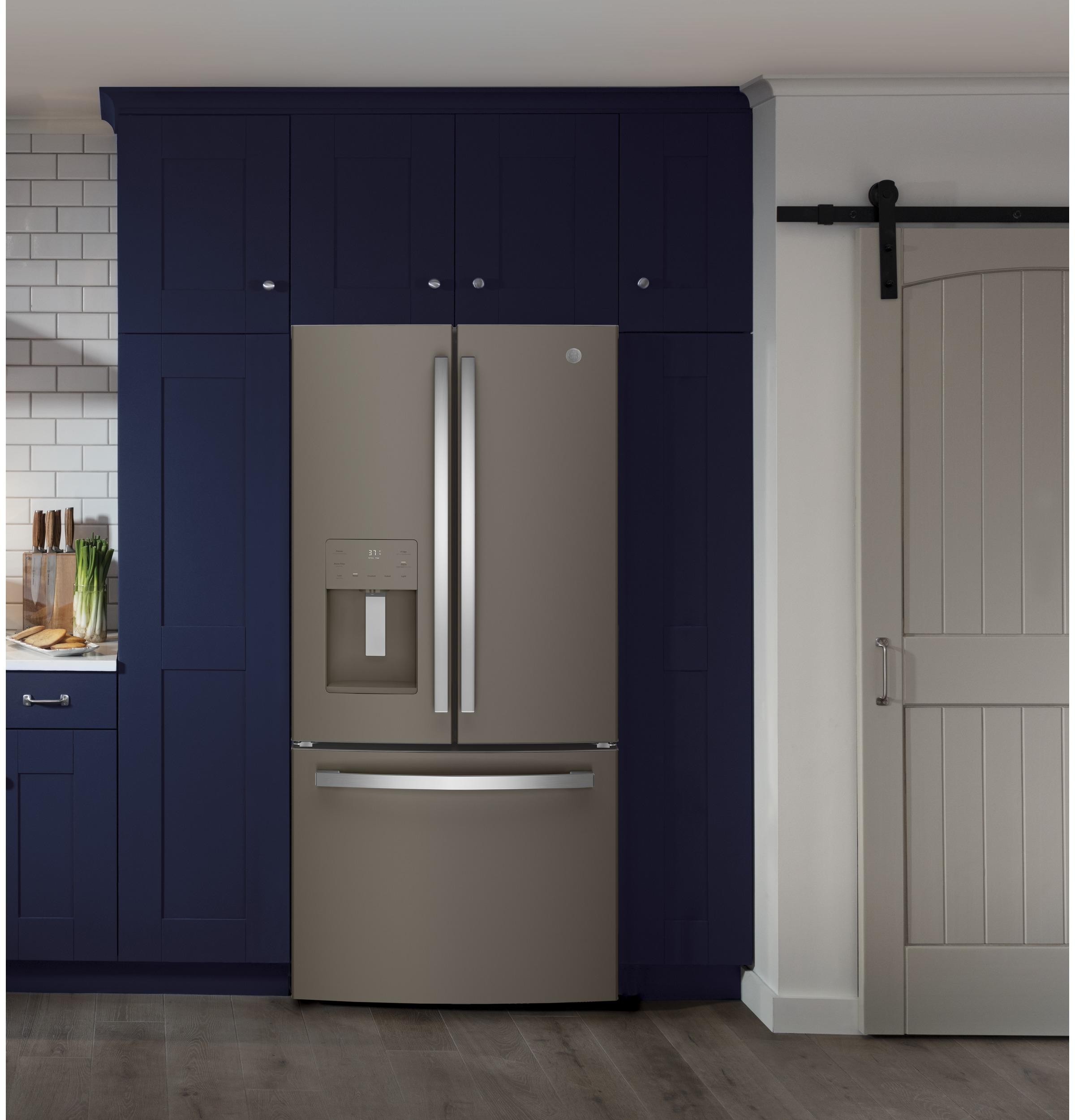 Model: GFE24JMKES | GE GE® ENERGY STAR® 23.7 Cu. Ft. French-Door Refrigerator
