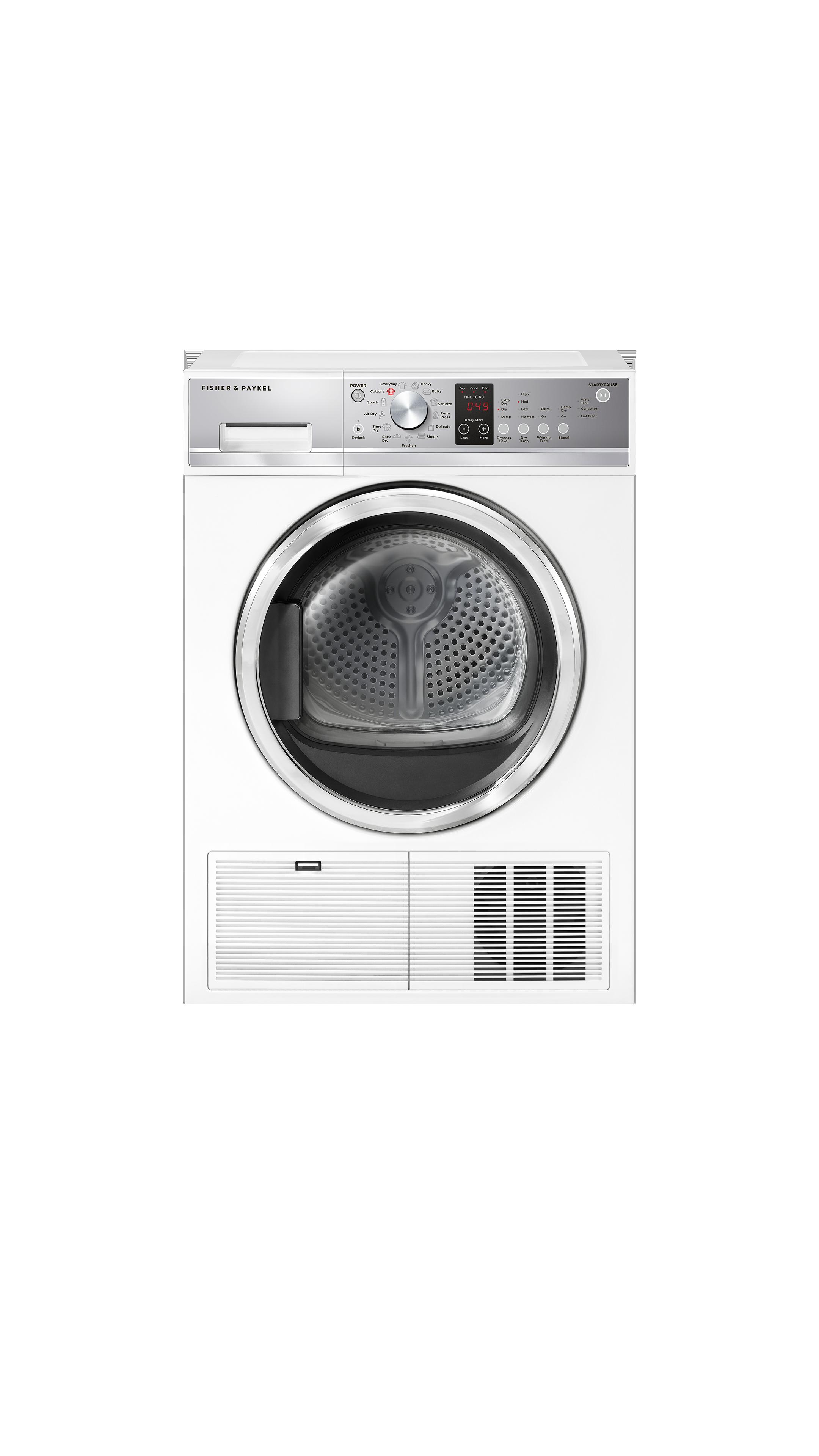 Model: DE4024P1   Fisher and Paykel Condensing dryer, 4.0 cu ft, Autosensing