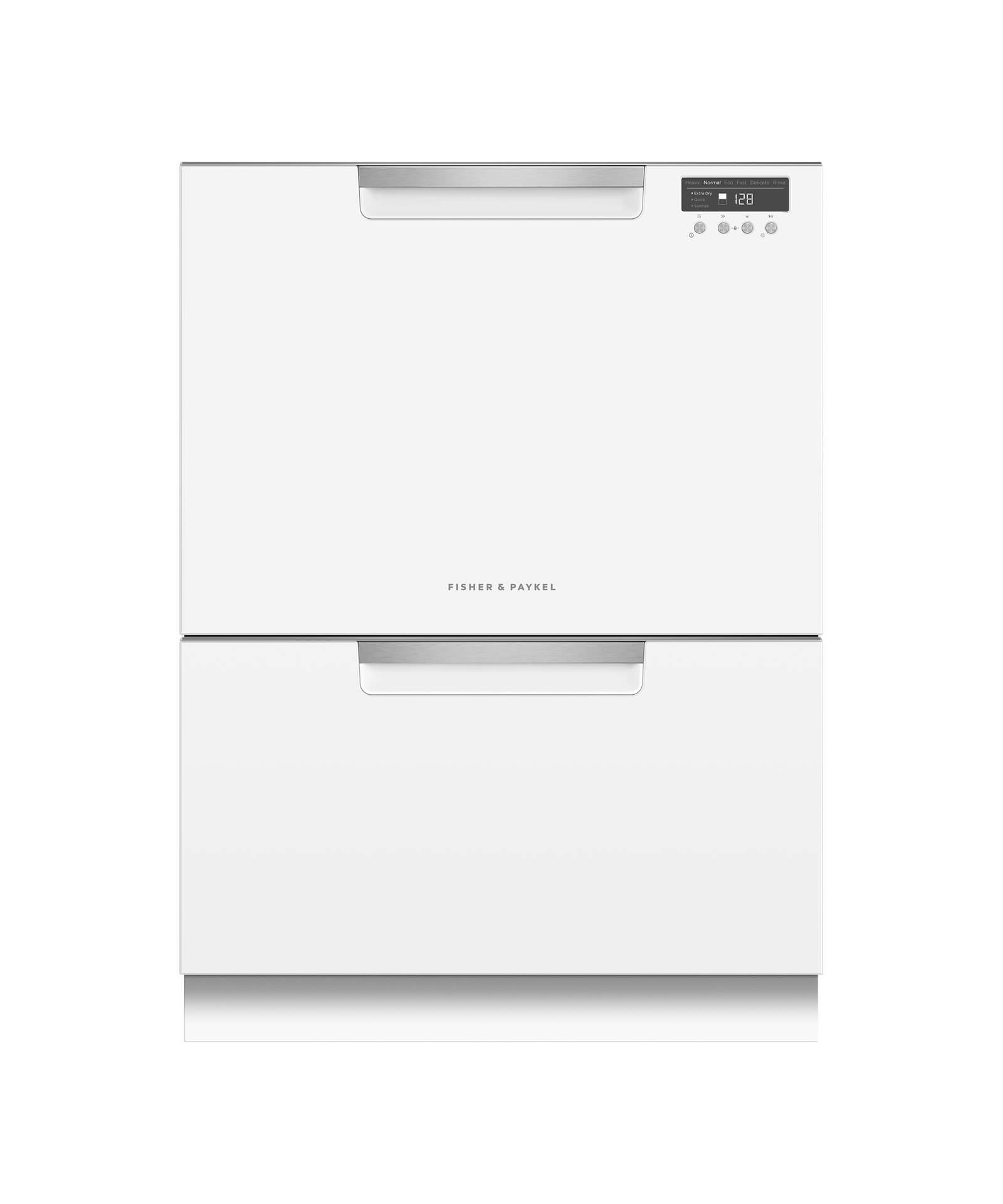 Fisher and Paykel Double DishDrawer™, 14 Place Settings, Sanitize (Tall)