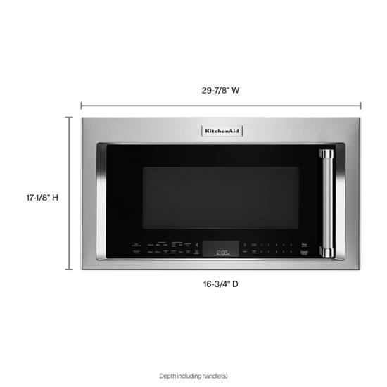 "KitchenAid 30"" 1200-Watt Microwave Hood Combination with Convection Cooking"