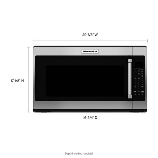 Model: KMHS120ESS | KitchenAid 1000-Watt Microwave with 7 Sensor Functions -  30""